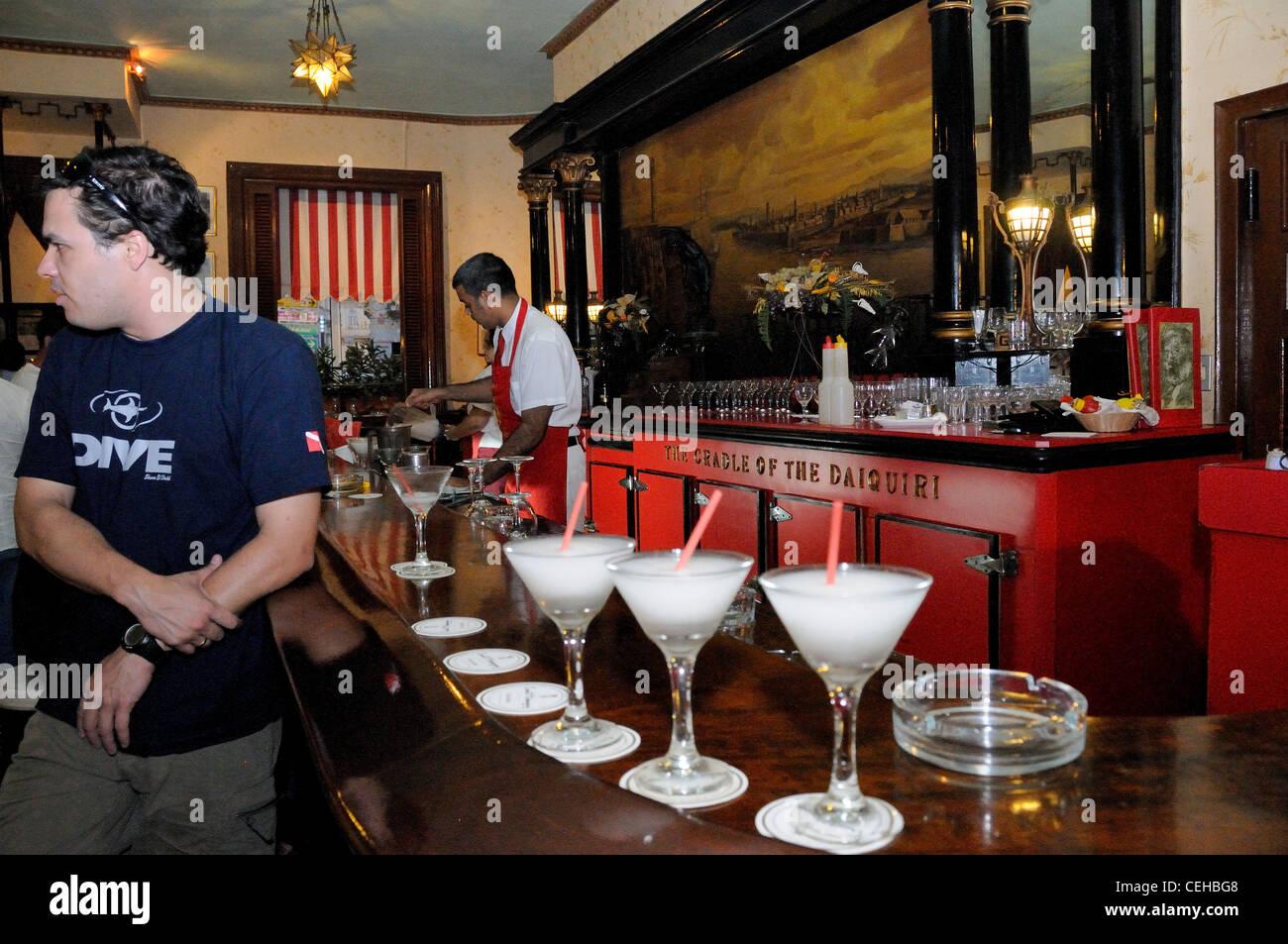 ... Daiquiris in cuban bar El Floridita, La Habana, capital city of Havana