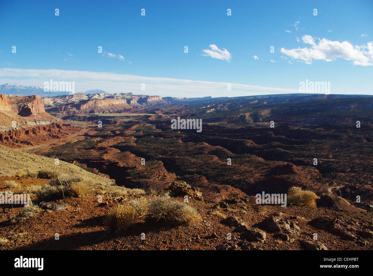 Sunrise at The Hartnet South Desert Waterpocket Fold. Capitol Reef ...