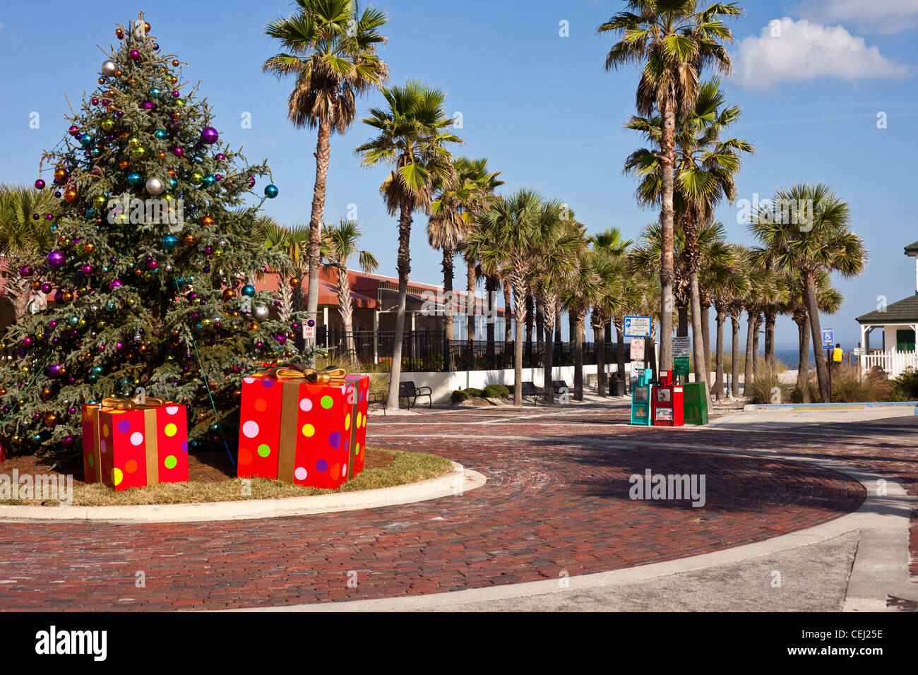 Christmas tree at vero beach florida Stock Photo, Royalty Free ...