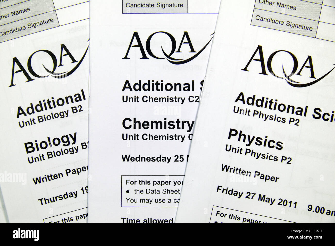 close up the biology chemistry physics additional science close up the biology chemistry physics additional science higher written exam papers aqa board taken in 2011
