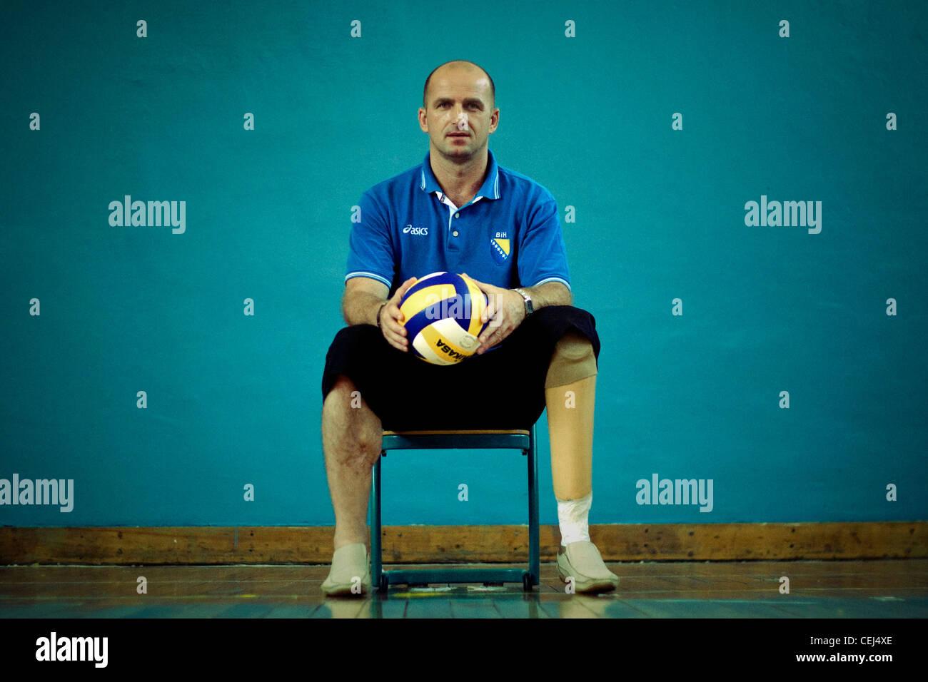 Color art fojnica - Zikret Mahmic A Member Of Bosnian Sitting Volleyball Team Fojnica Bosnia And Herzegovina