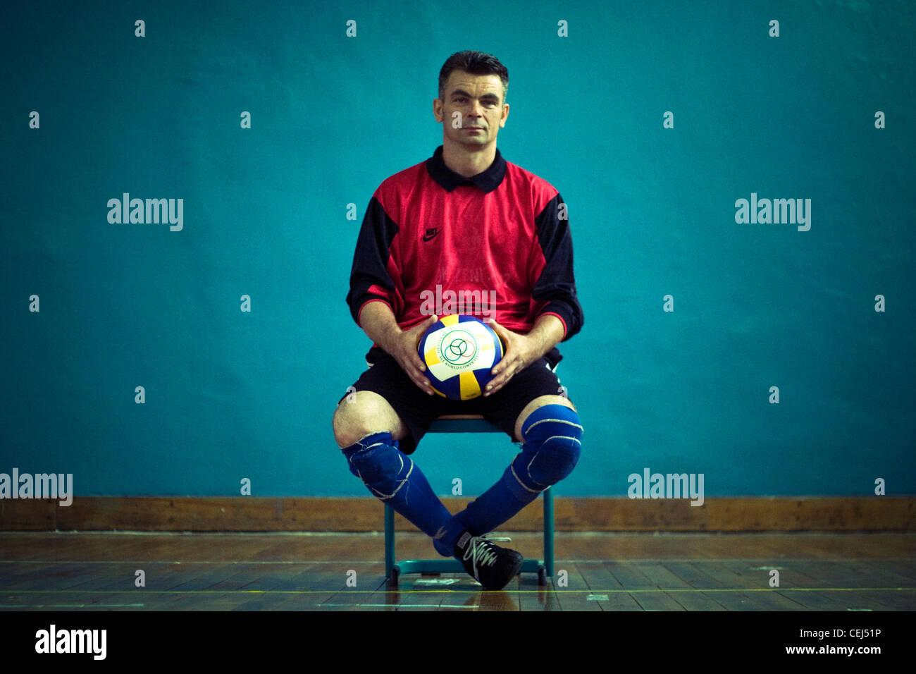 Color art fojnica - Esad Durmisevic A Member Of Bosnian Sitting Volleyball Team Fojnica Bosnia And Herzegovina