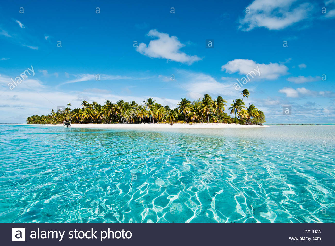 One foot island aitutaki island cook islands stockfoto for El mejor hotel de islas maldivas
