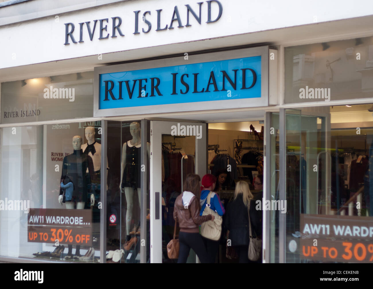River Island High Street Retail Shop Selling Brand Clothes That Are In With The Current Fashion Trends