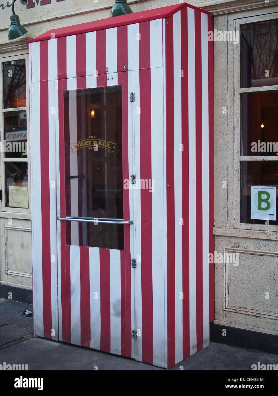 Cold-weather door in front of Meatball Shop restaurant Brooklyn New York & Cold-weather door in front of Meatball Shop restaurant Brooklyn ...