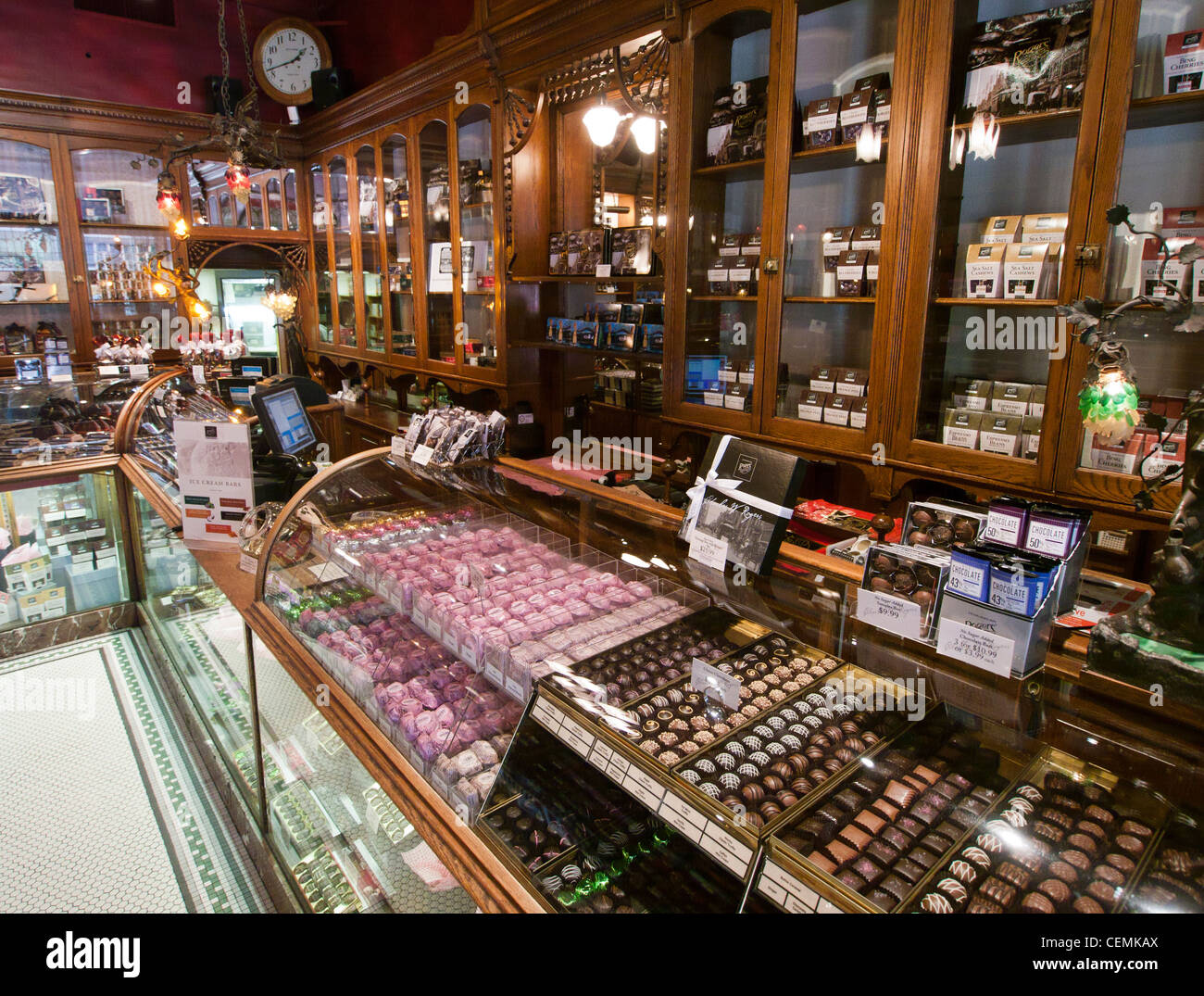 Inside Rogers chocolate shop in Victoria on Vancouver Island in ...