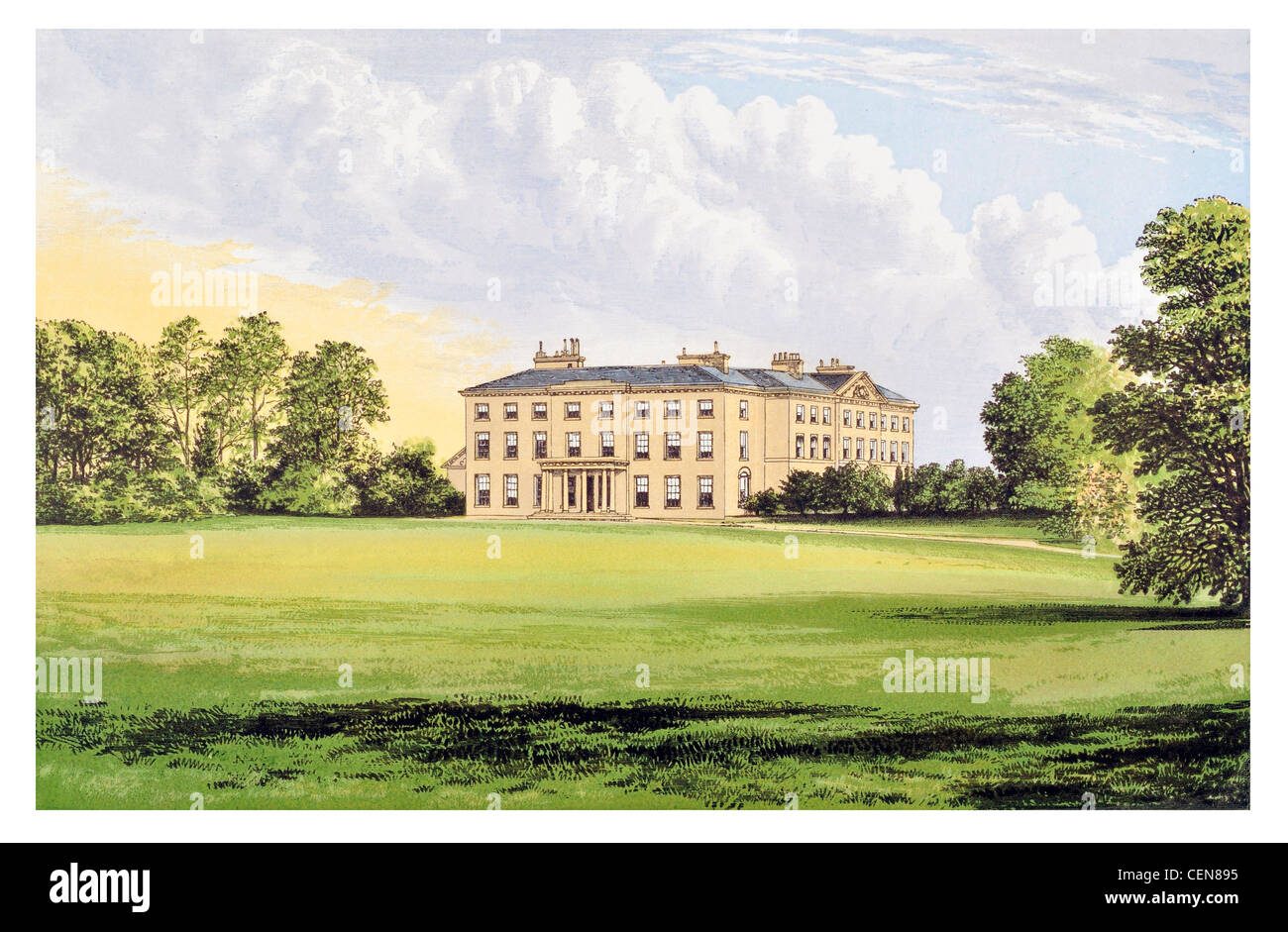 Farnham House England UK Parkland Park Mansion Manor Stately Home Hall Palace Estate Castle Landscaped Garden Architecture
