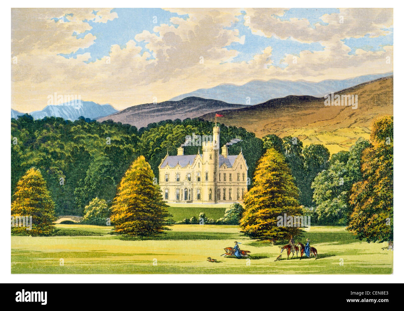 Ardtully Airntully Britain England UK Parkland Park Mansion Manor House Stately Home Hall Palace Estate Castle Landscaped