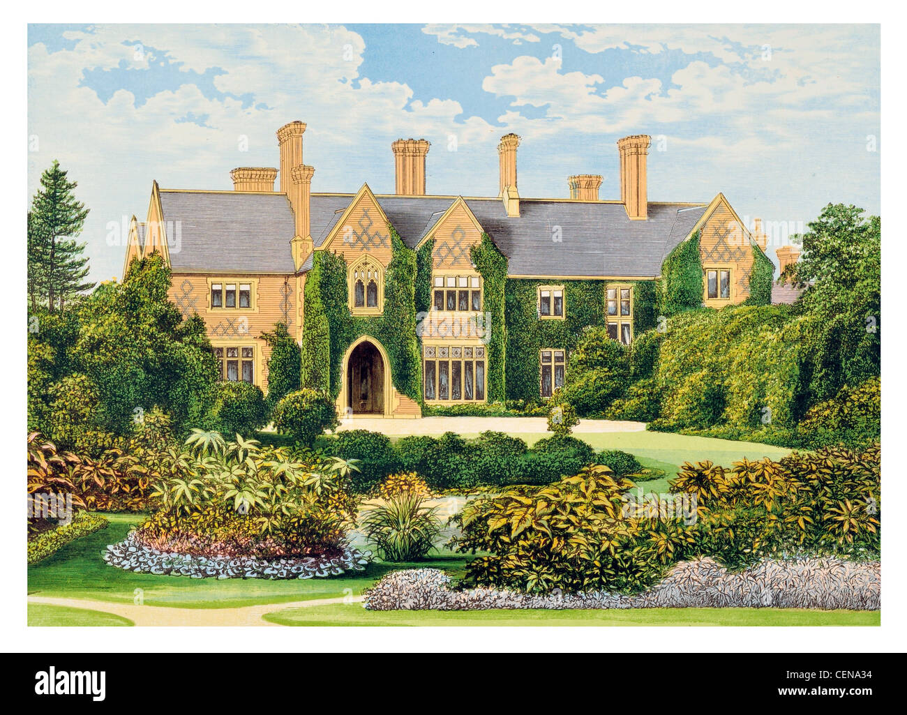 Oxley Manor Britain England UK Parkland Park Mansion House Stately Home Hall Palace Estate Castle Landscaped Garden