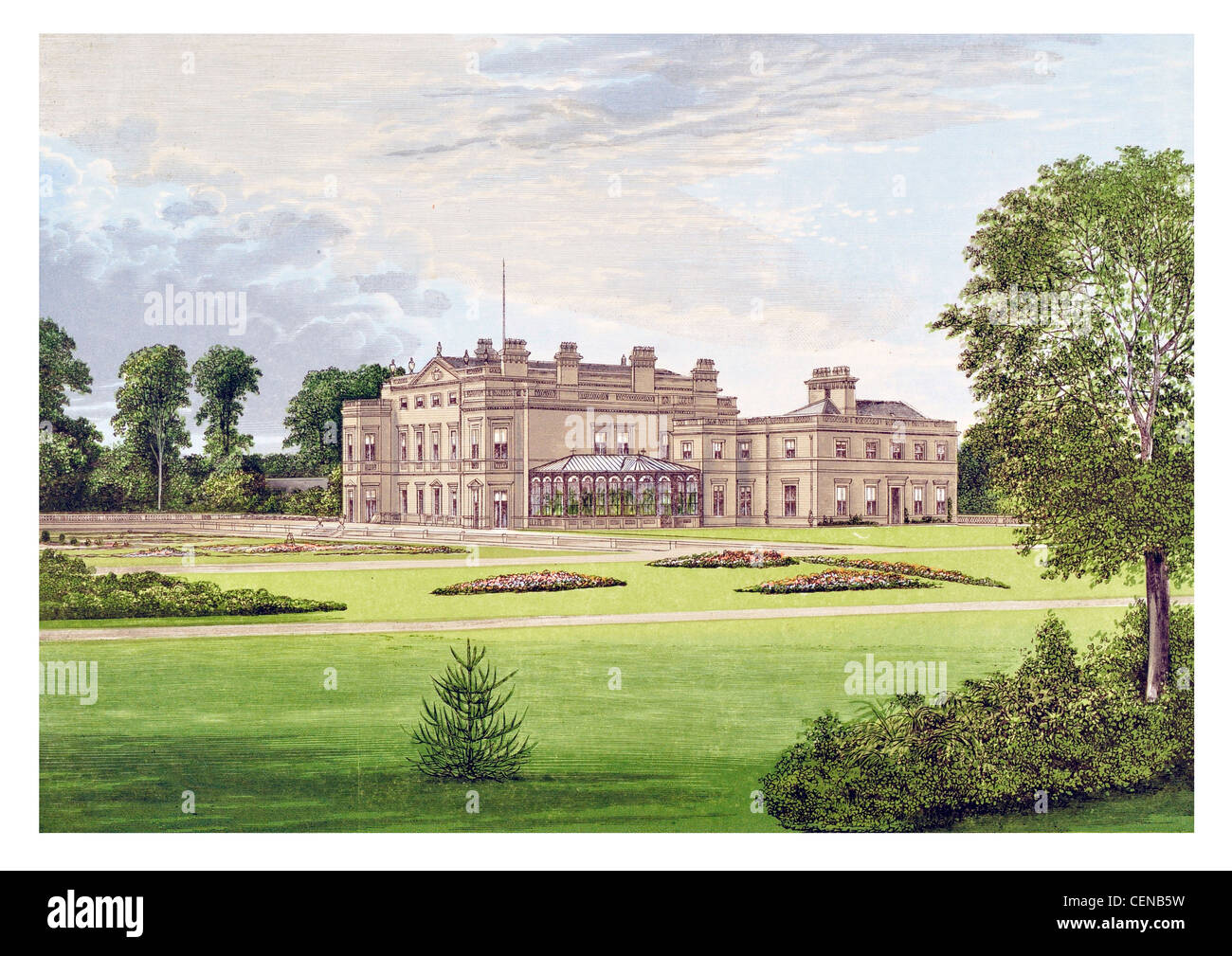 Dalton Hall Britain England UK Parkland Park Mansion Manor House Stately Home Palace Estate Castle Landscaped Garden