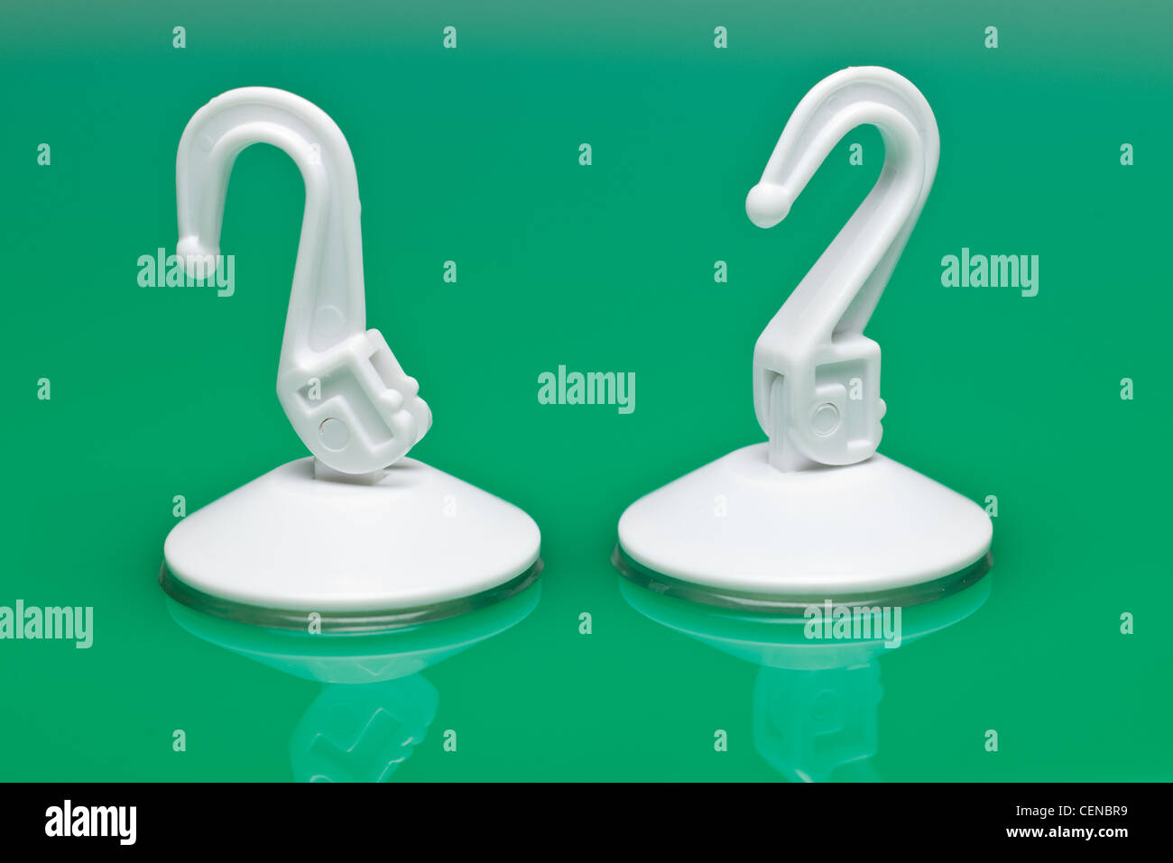 stock photo two pressure suction cup hook holders