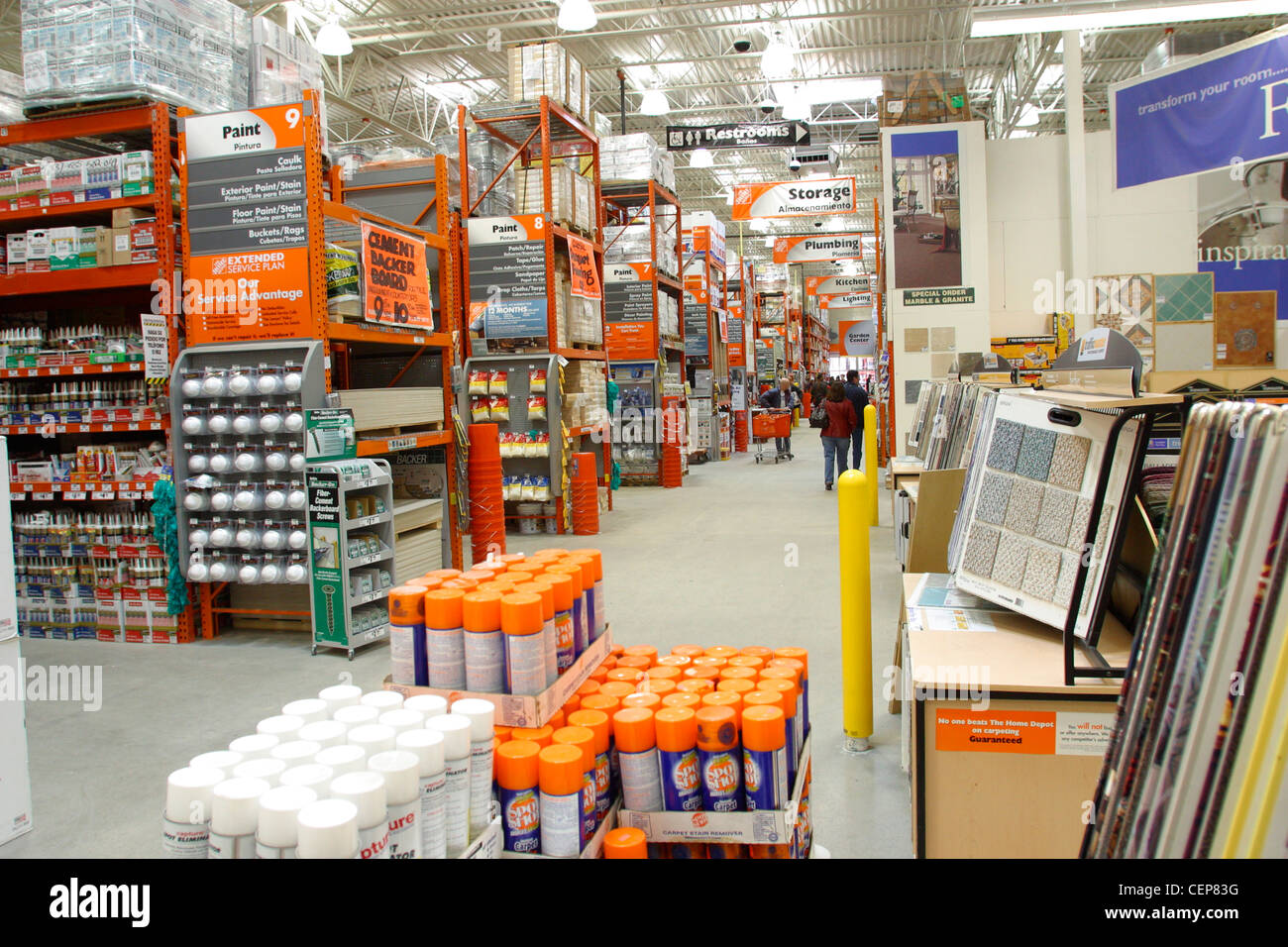 Interior of home depot home improvement store stock photo for Shop home depot