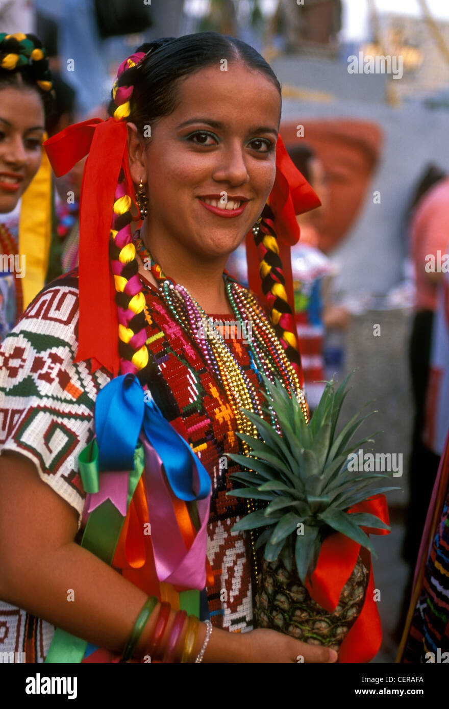 Mexican people young adult woman female costumed dancer ... Mexican People Pictures