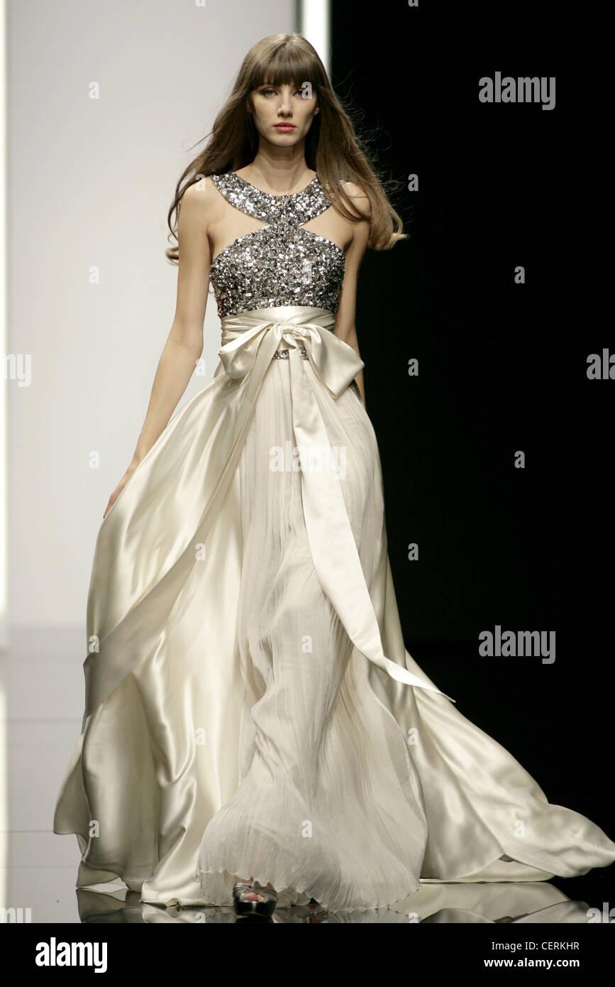 Elie Saab Paris Ready to Wear Spring Summer Flowing gown: Metallic ...