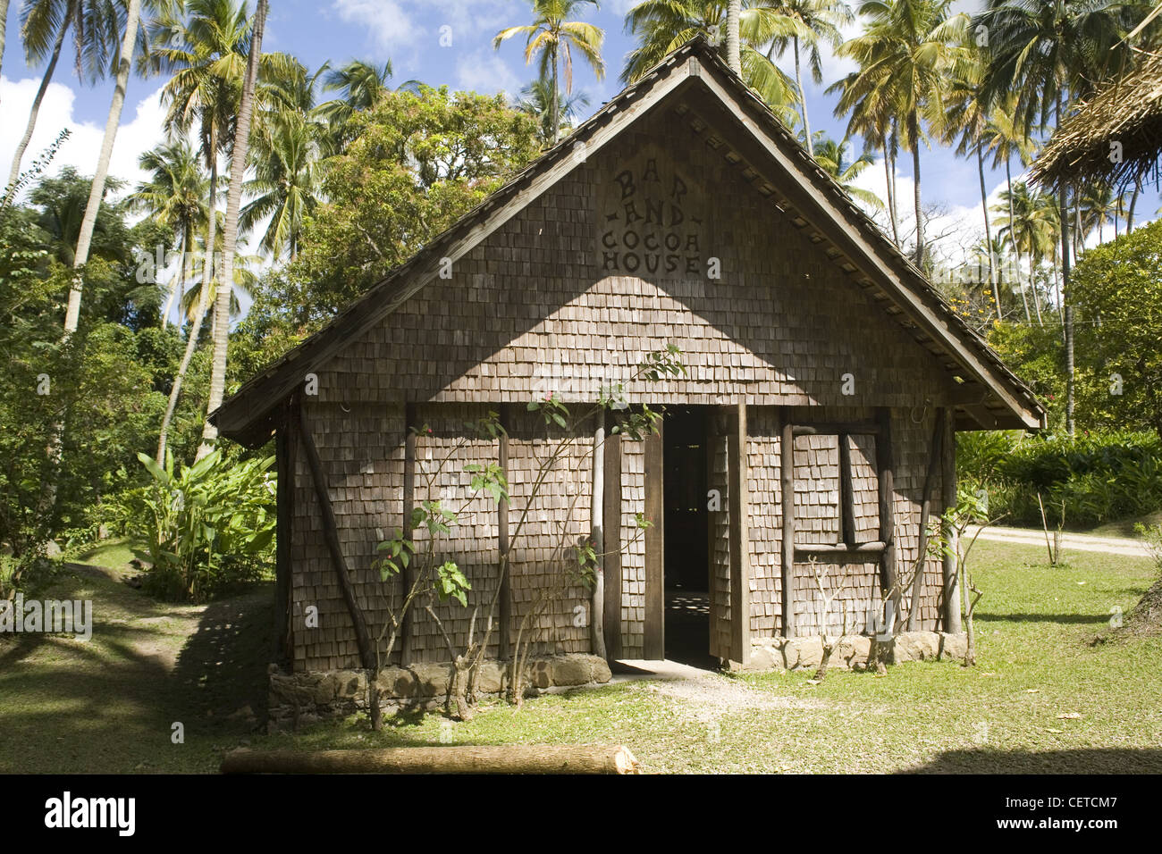 18Th Century House caribbean st.lucia, morne coubaril, 18th. century house replica