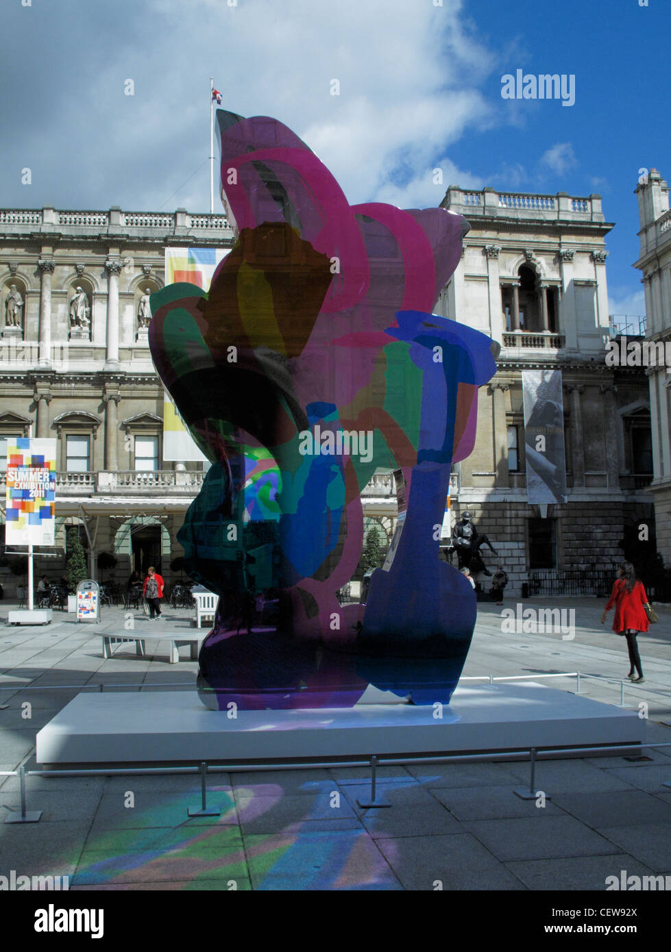 Coloring book by jeff koons - Jeff Koons Coloring Book Sculpture Summer 2011 Royal Academy Of Arts Piccadilly London England Uk