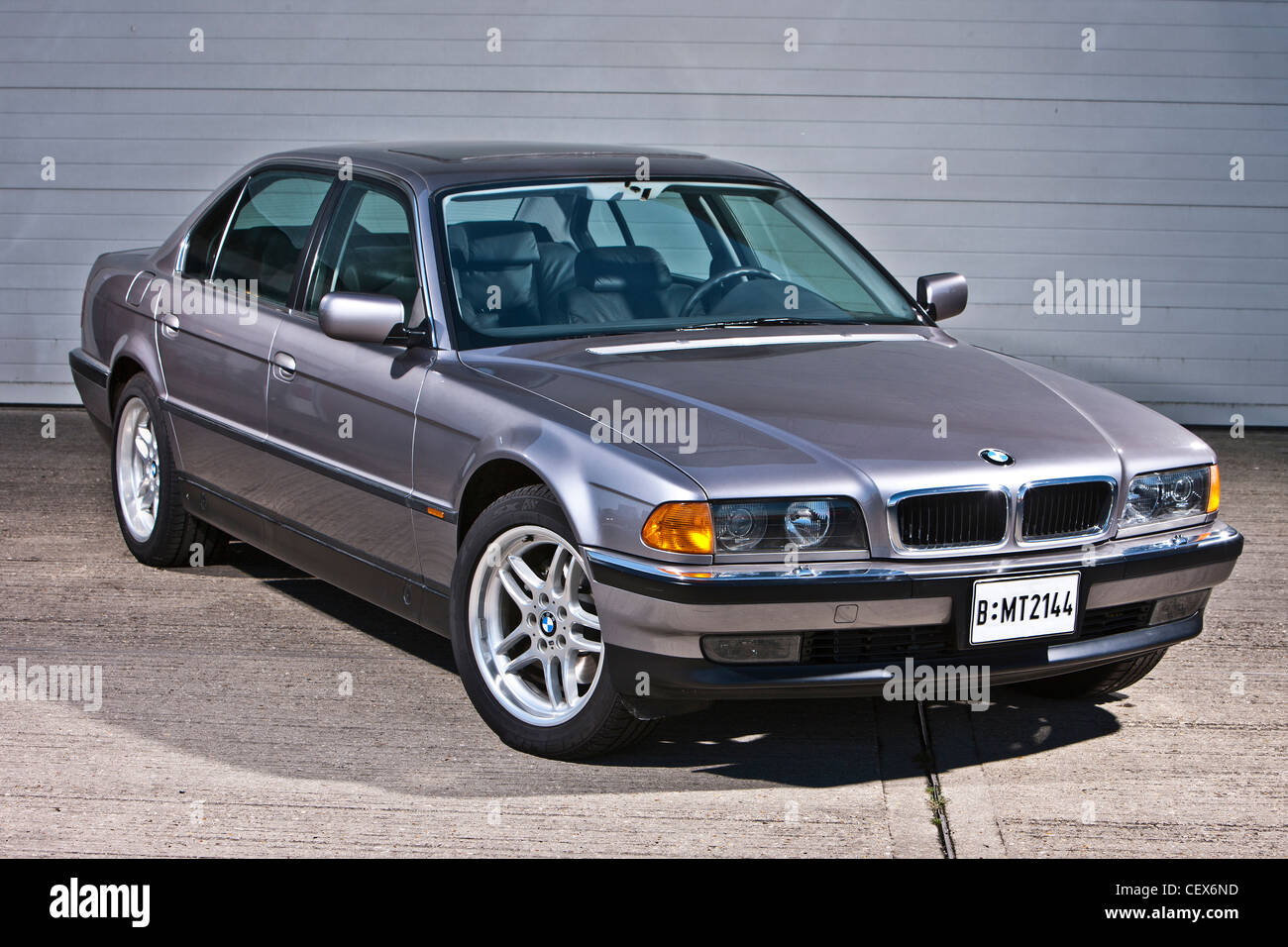 BMW 7 Series E38 Model, James Bond Classic Car   Stock Image