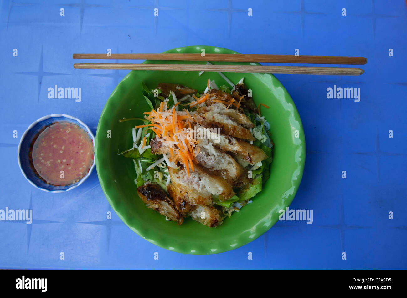 Stock Photo - Vietnamese bun cha (grilled pork balls with noodles) on Phu Quoc Island in Vietnam