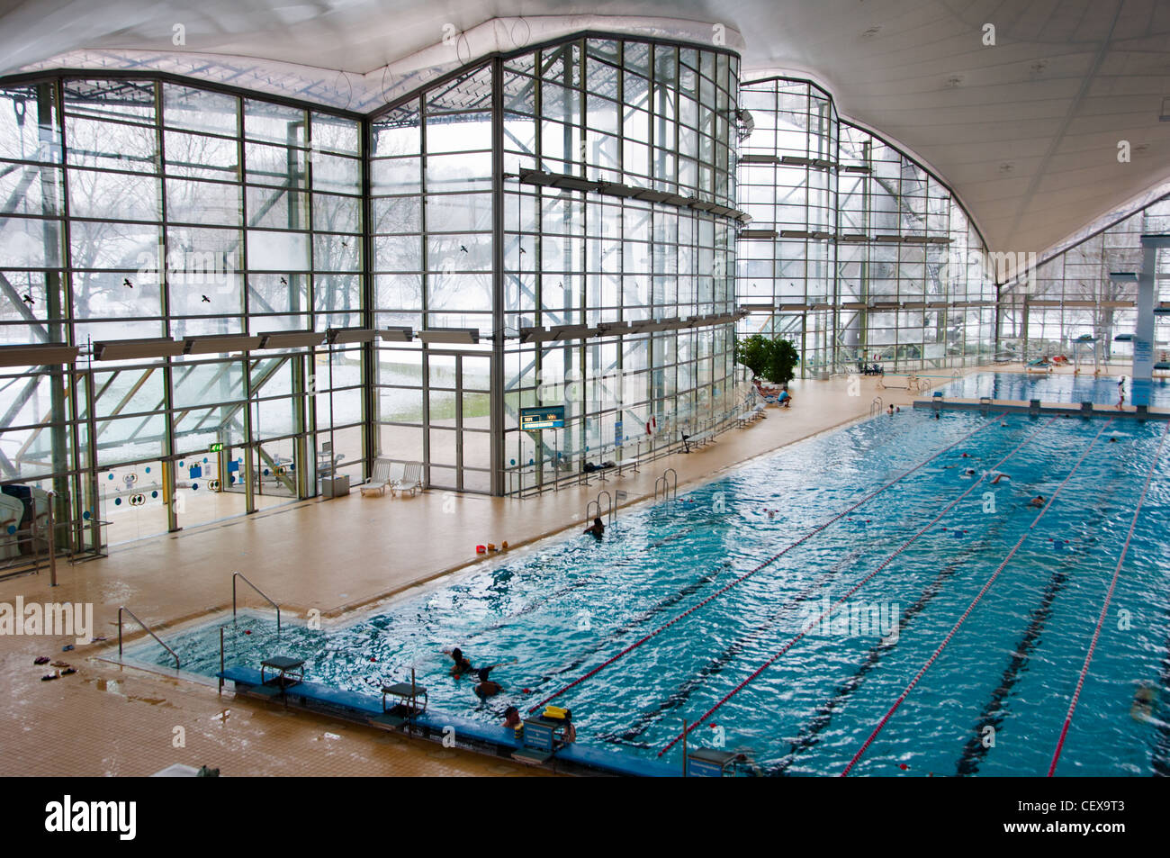 Munich Olympic Swimming Pool Now Open To The Public Munich Germany Stock Photo Royalty Free