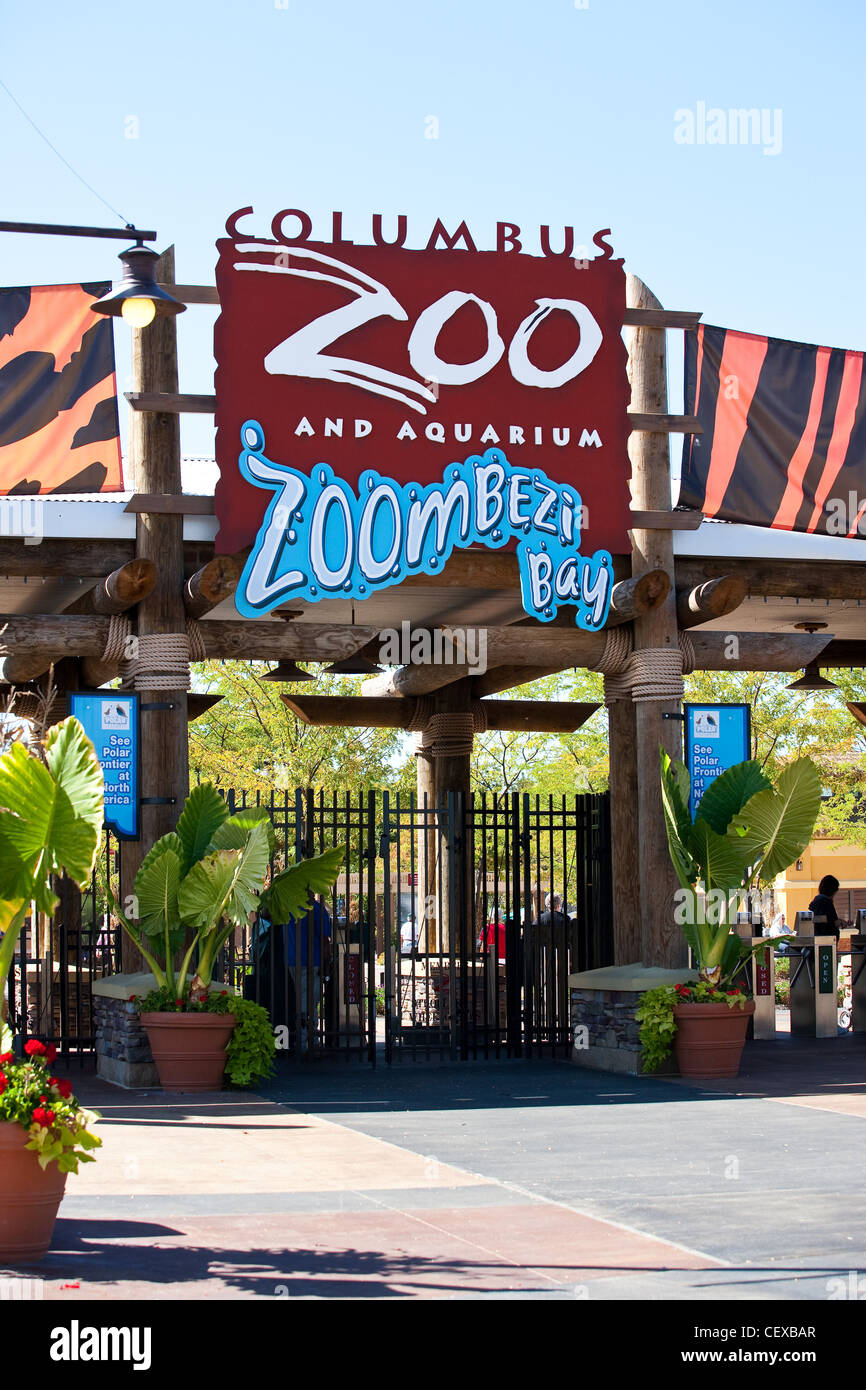 Entrance To The Columbus Zoo And Aquarium Stock Photo