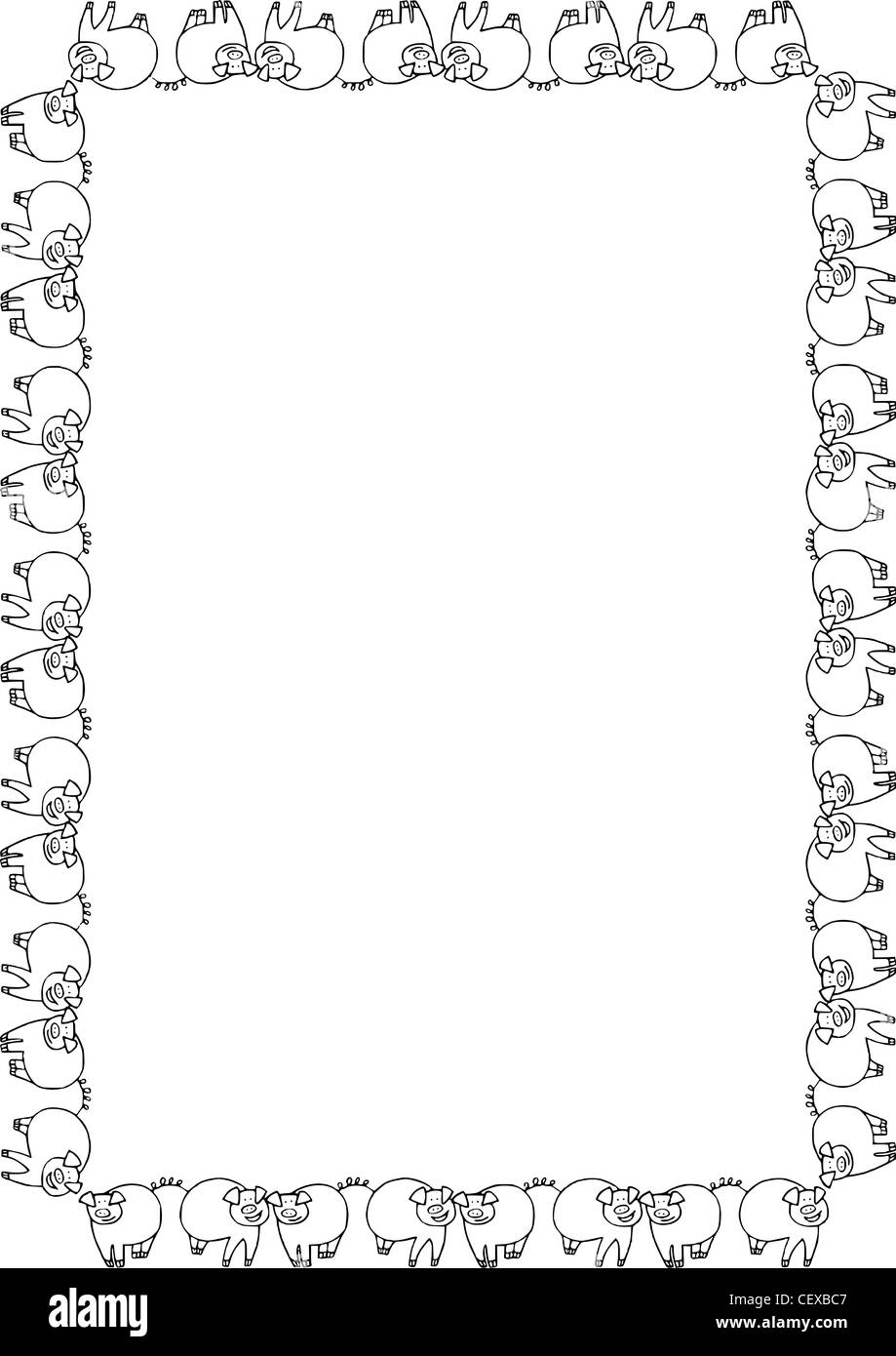 Photo Page: A4 Fitted Full Frame Border Layout In A Meandering Style