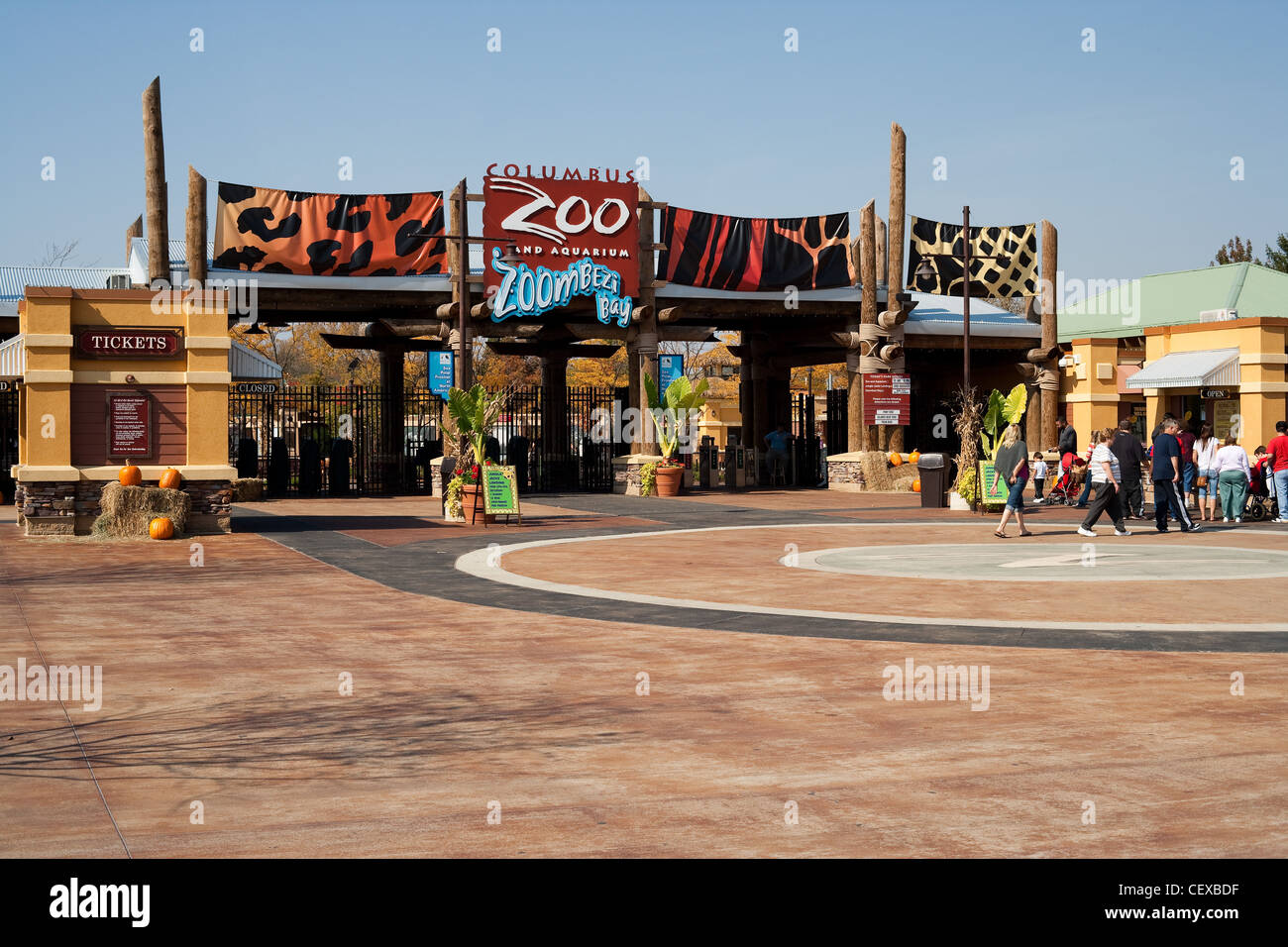 The Entrance To The Columbus Zoo And Aquarium Stock Photo