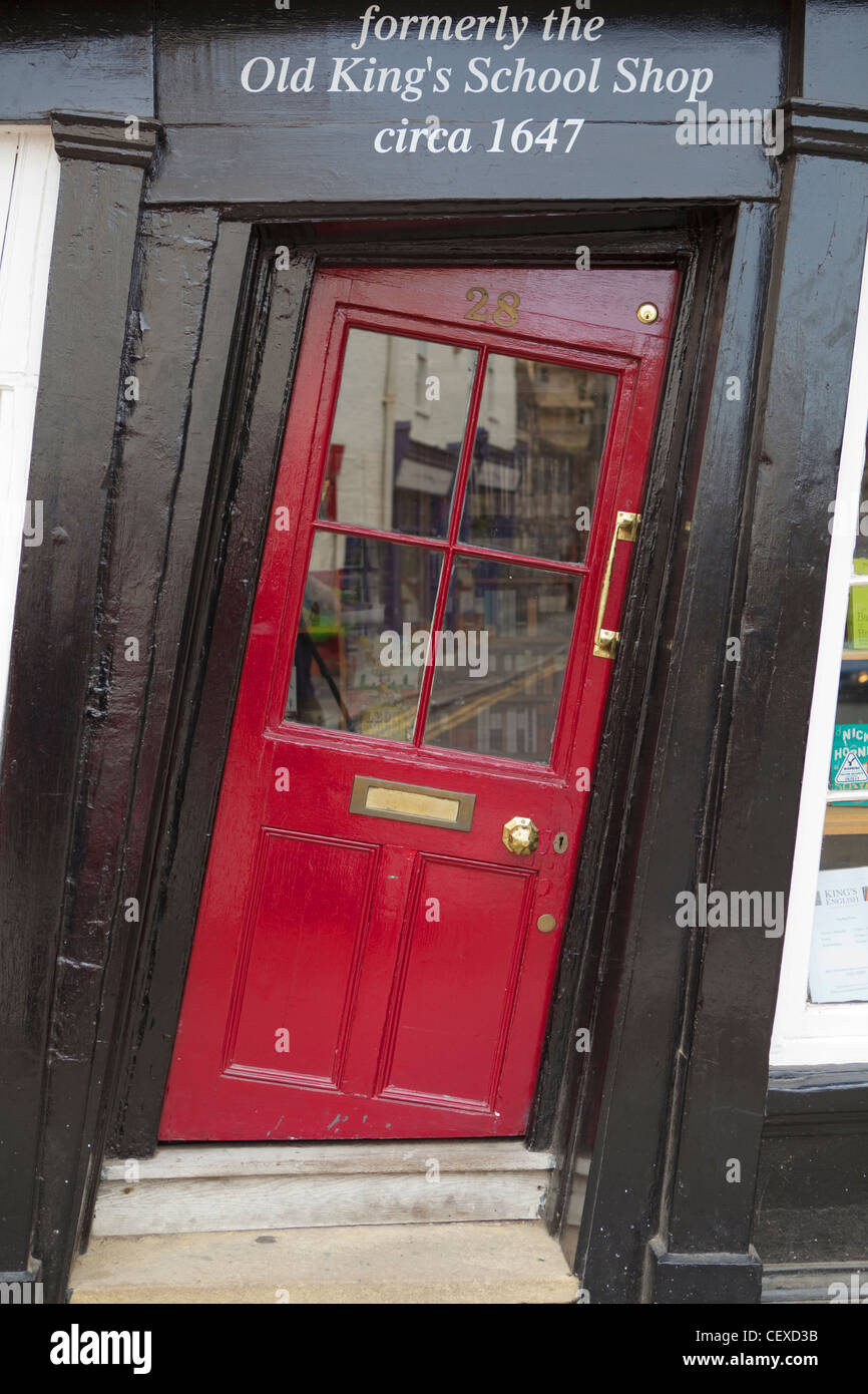 A view of the crooked door of a shop in Canterbury & A view of the crooked door of a shop in Canterbury Stock Photo ...