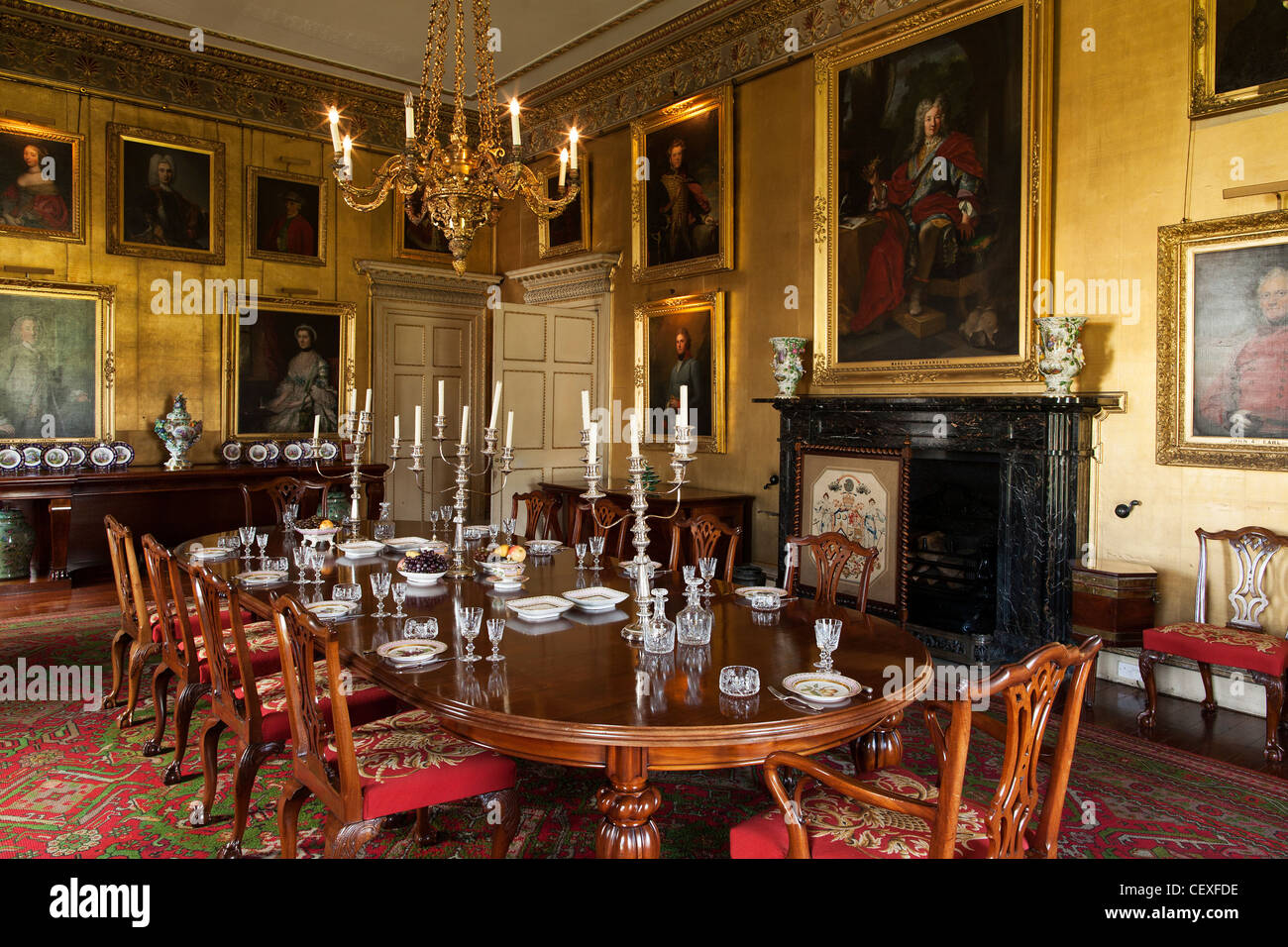 Interior Rooms Of The Stately Home Of Hopetoun House