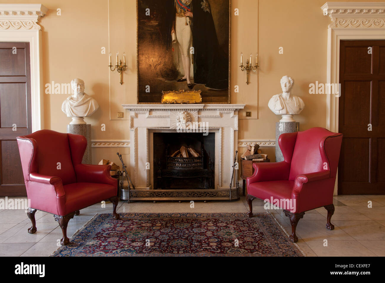 Stately Home Interiors. Interior rooms of the stately home Hopetoun house  is a historic mansion Stately House Stock Photos