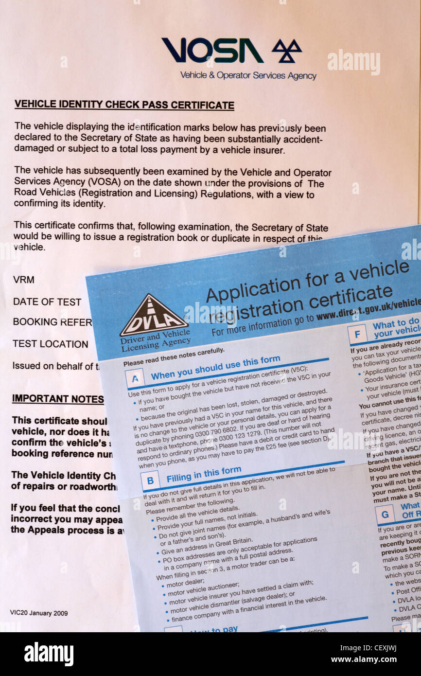 Vosa vehicle identity check pass certificate and application for a vosa vehicle identity check pass certificate and application for a vehicle registration certificate forms xflitez Images