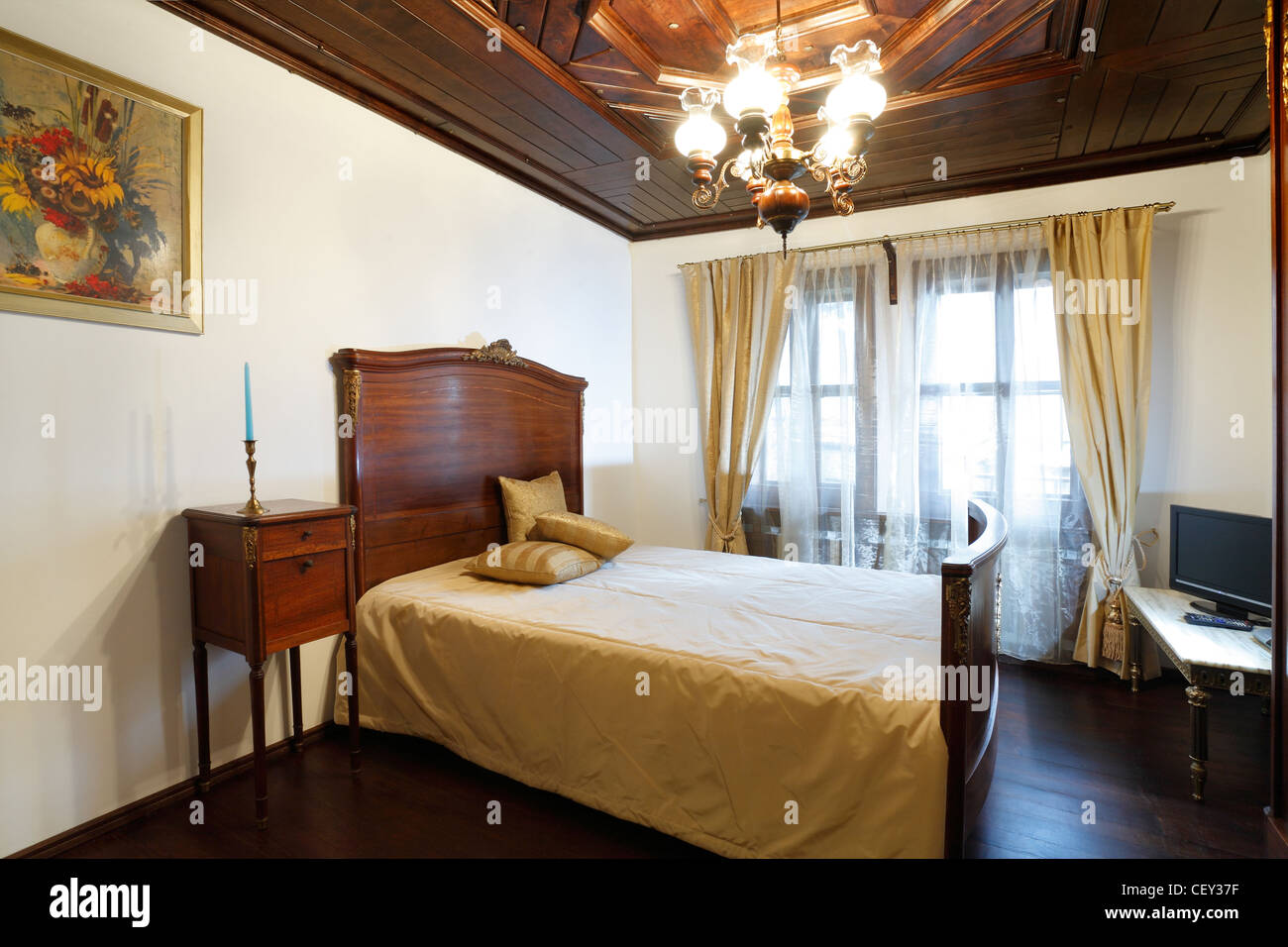 Old Style Bedroom Furniture Bedroom With Old Style Wooden Furniture Hotel Room Interior Stock
