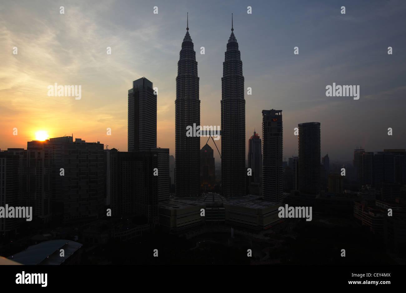 Menara petronas towers at sunset kuala lumpur malaysia stock photo menara petronas towers at sunset kuala lumpur malaysia buycottarizona Gallery
