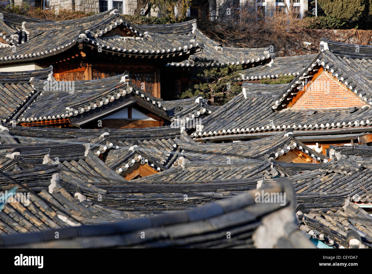 Roofs And Tiles Of Traditonal Korean Housing In The