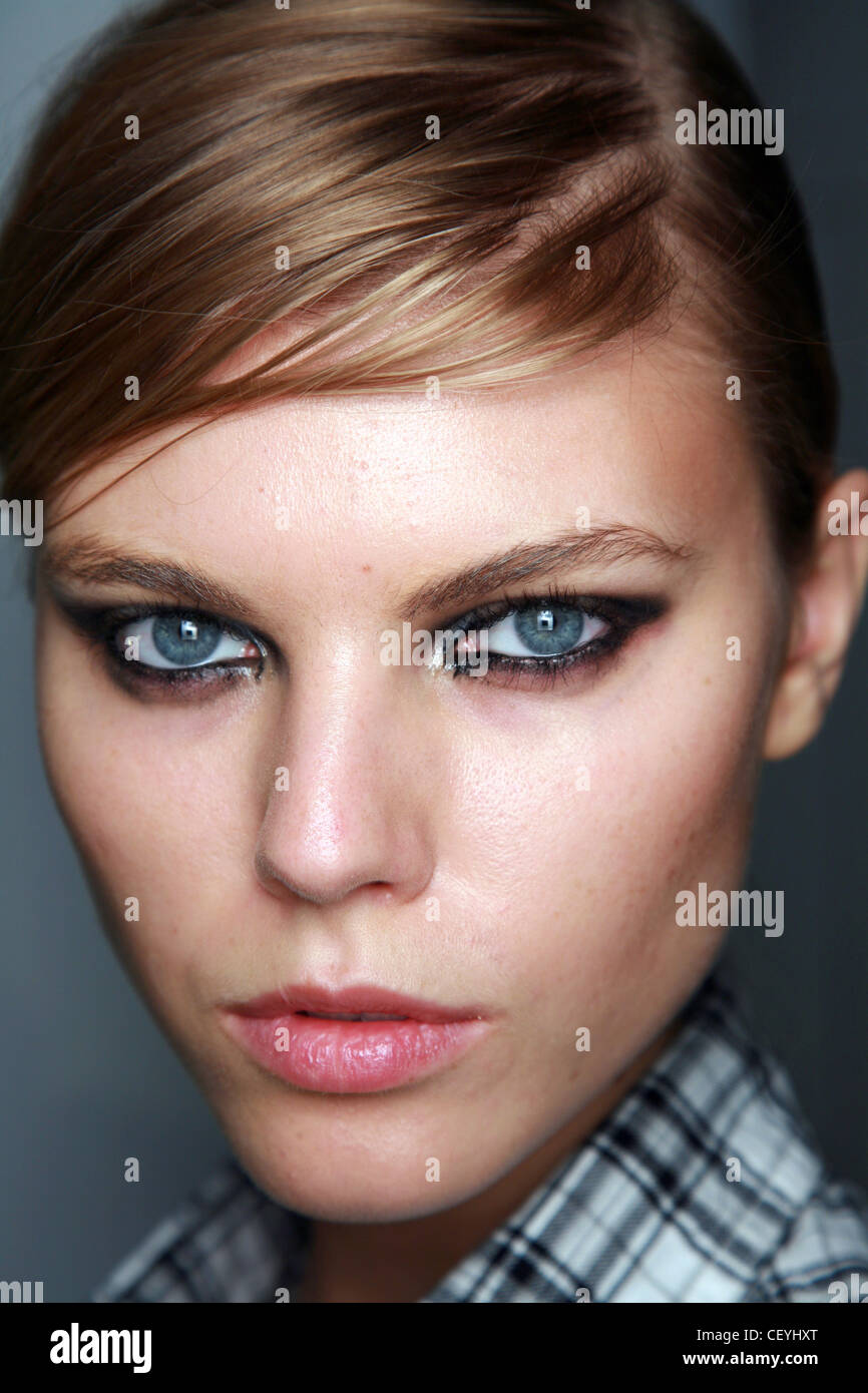 Preen Backstage New York Ready to Wear Autumn Winter Model wearing ...