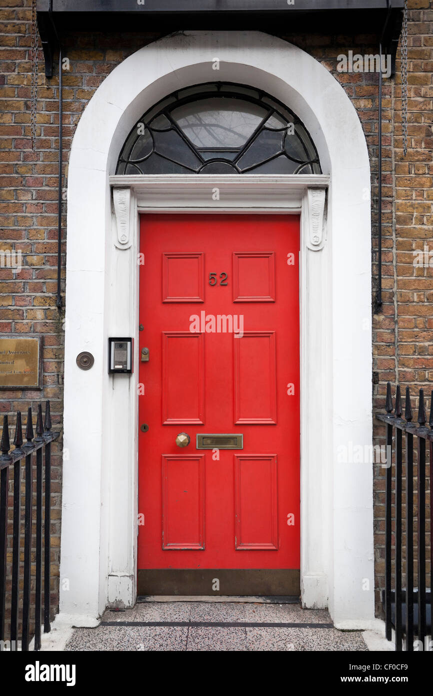 Red Front Door Red Front Door London England Stock Photos & Red Front Door London