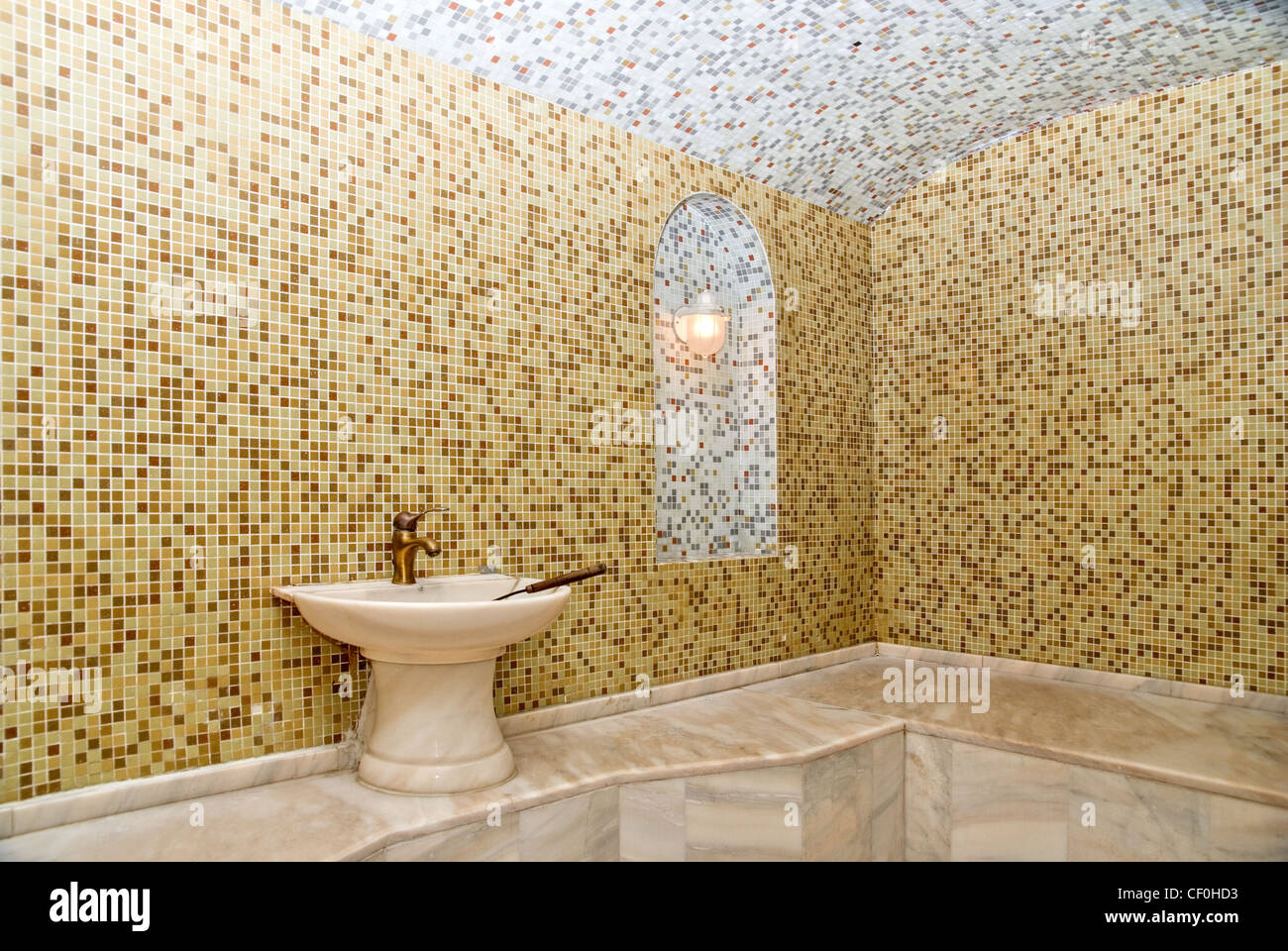 Stock Photo   Turkish Bath With Ceramic Tile In Roman Style Part 85