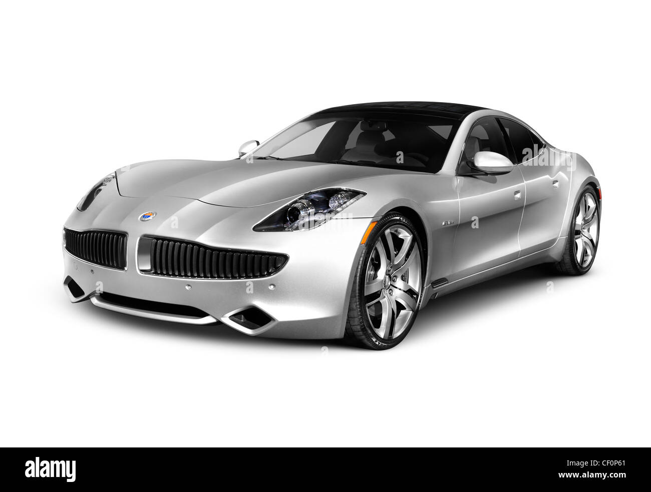 2012 fisker karma plug in hybrid sedan electric luxury car isolated stock photo royalty free. Black Bedroom Furniture Sets. Home Design Ideas