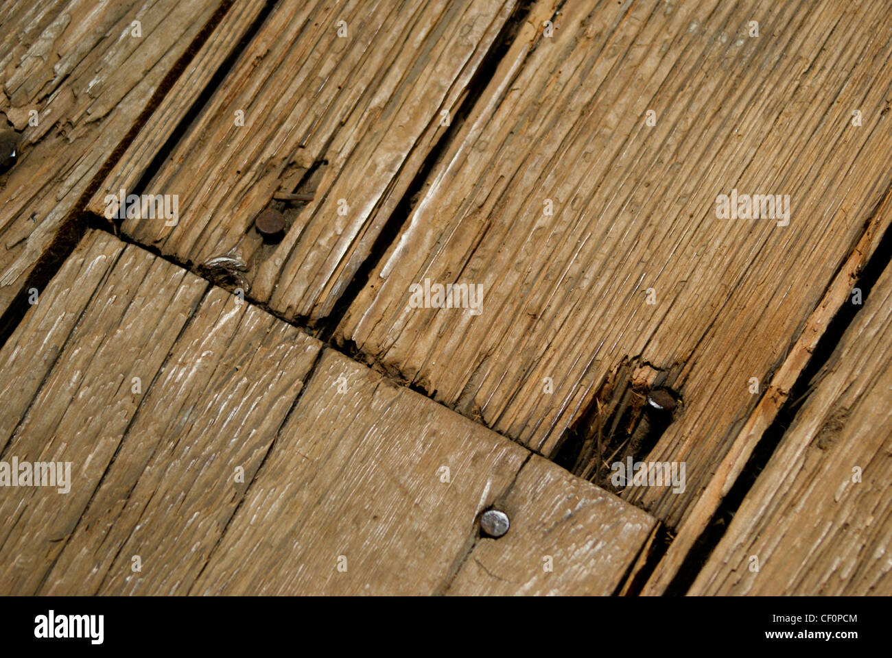 Old wood floor with rusty nails Stock Photo, Royalty Free ...