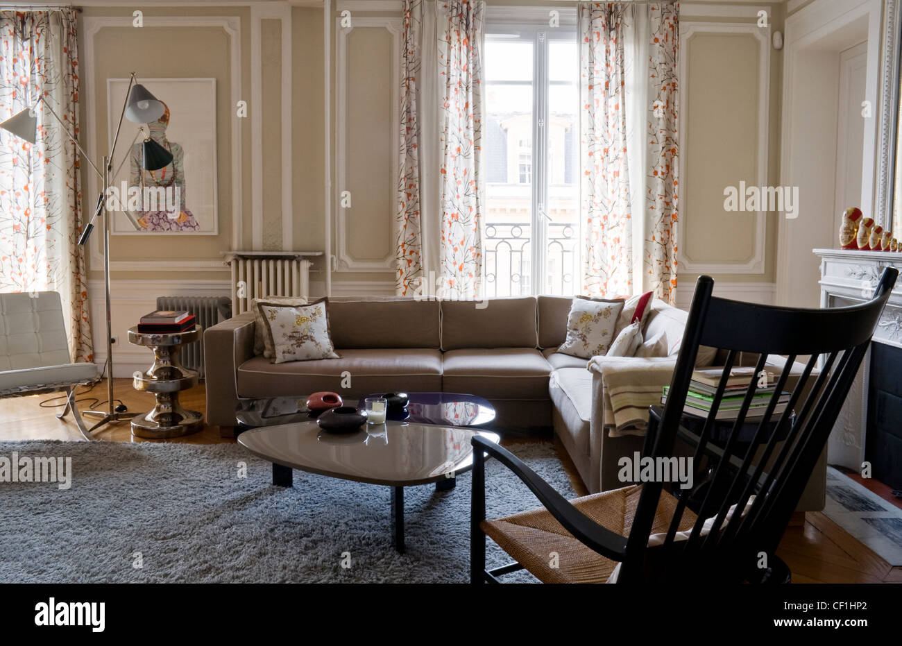 Home of shoe designer Maloles Miracosta Antignac in Paris Living