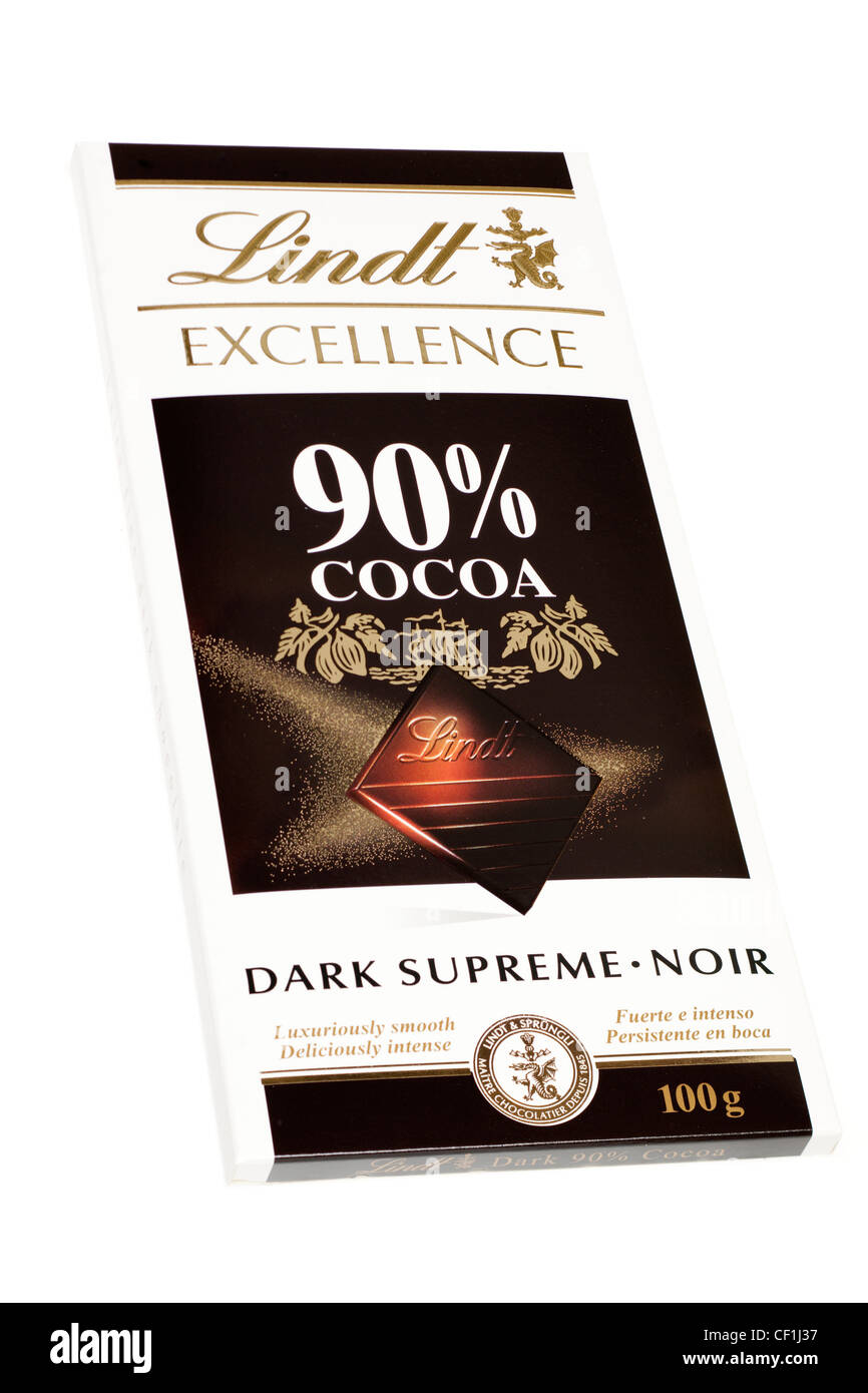 Bar of Lindt dark chocolate Stock Photo, Royalty Free Image ...