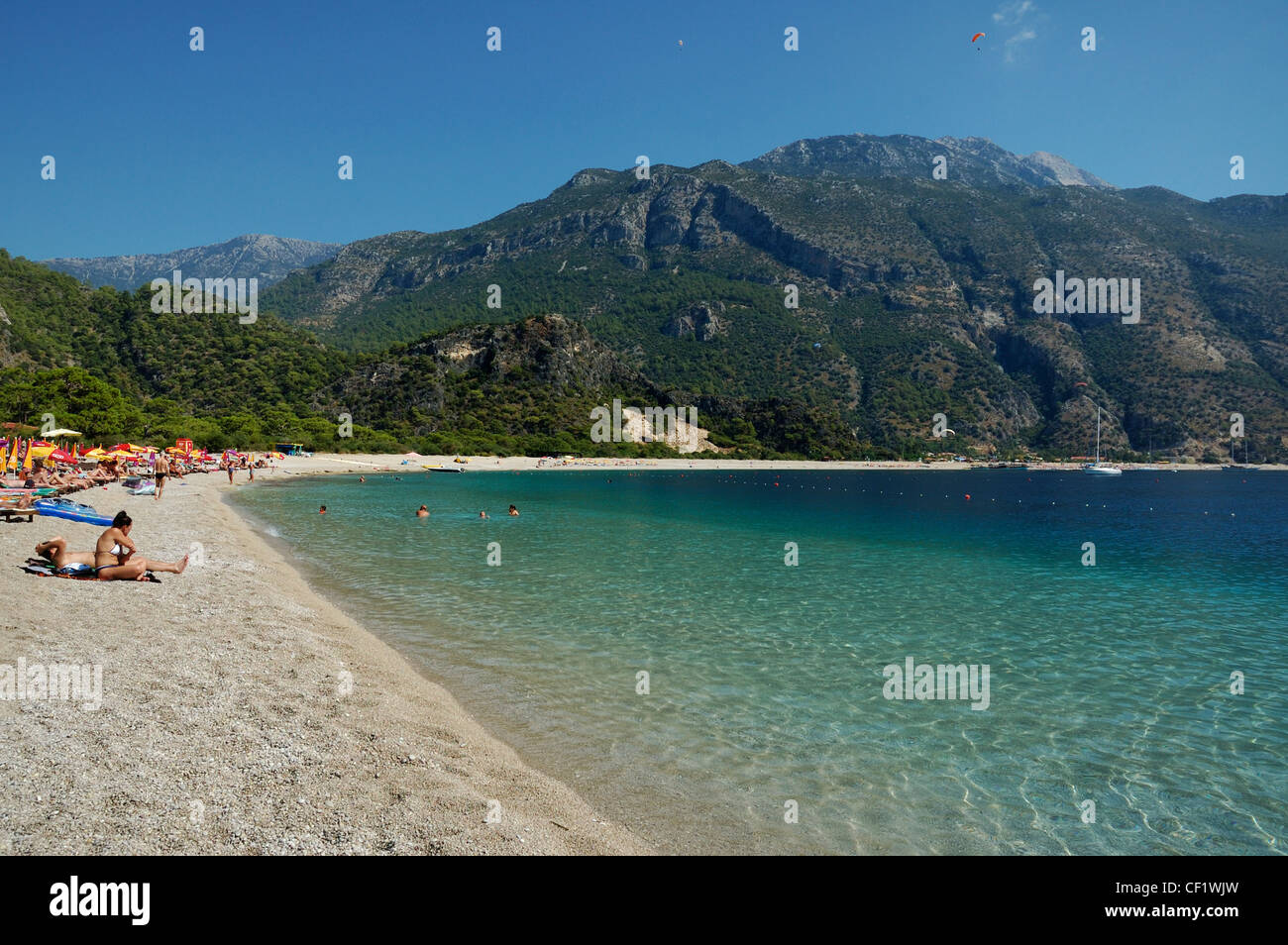 oludeniz blue lagoon beach mugla province turkey Stock ...