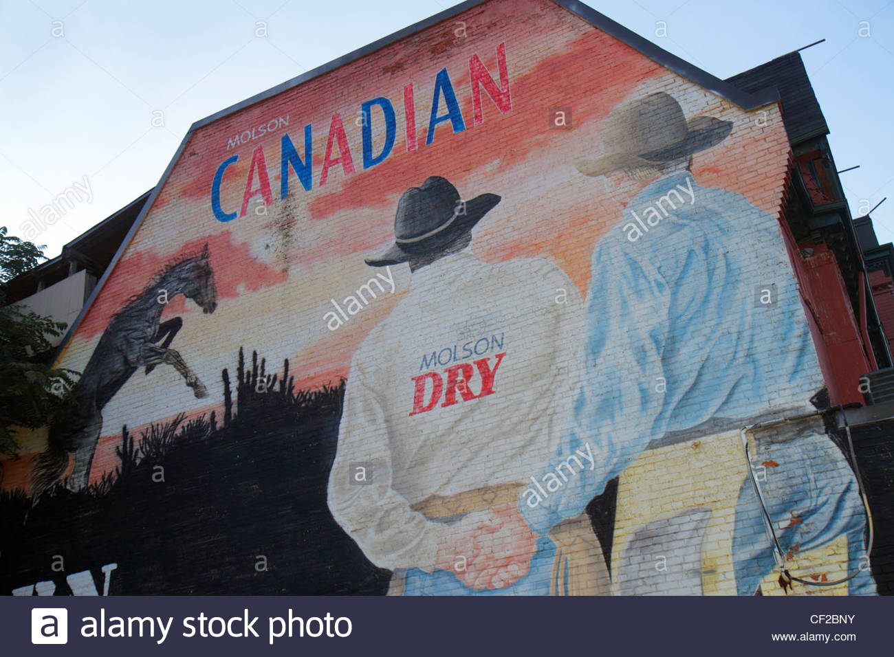 Toronto canada ontario church street building wall mural molson stock photo toronto canada ontario church street building wall mural molson coors brewing company canadian company beer ad targeted cowboy m amipublicfo Image collections