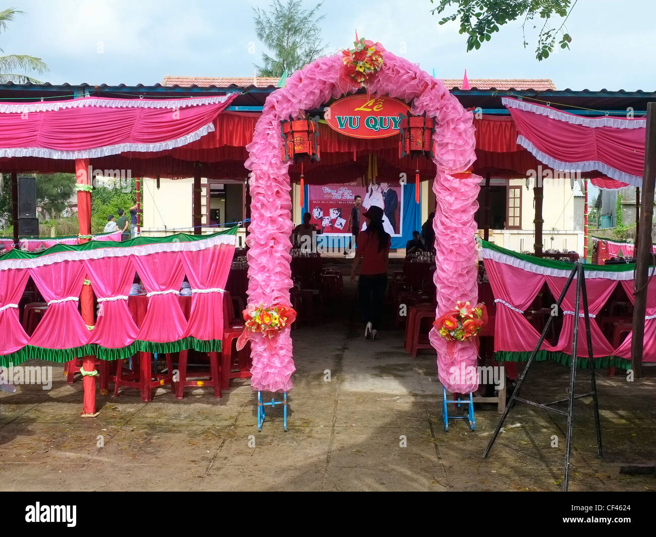 Funny gates stock photos funny gates stock images alamy le vu quy decorated wedding restaurant hoi an vietnam stock image junglespirit Gallery