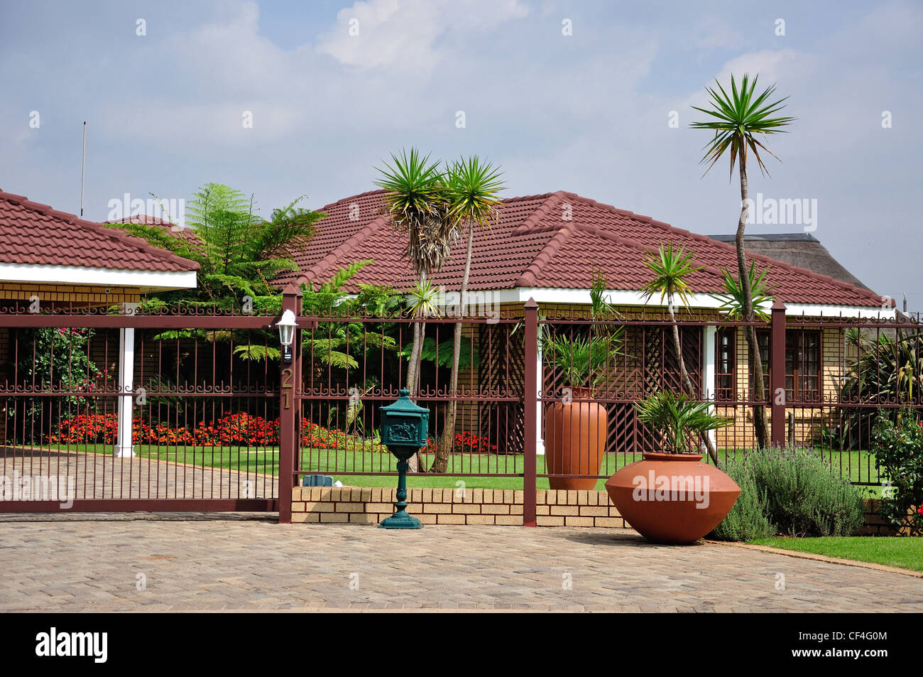 Typical house with security fence nigel gauteng province