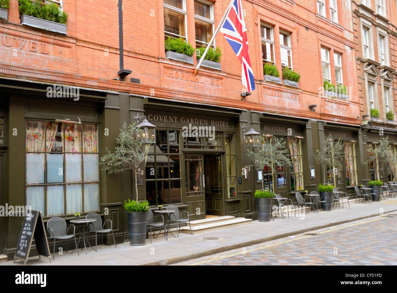 Exterior Of The Covent Garden Hotel In Monmouth Street Stock Photo