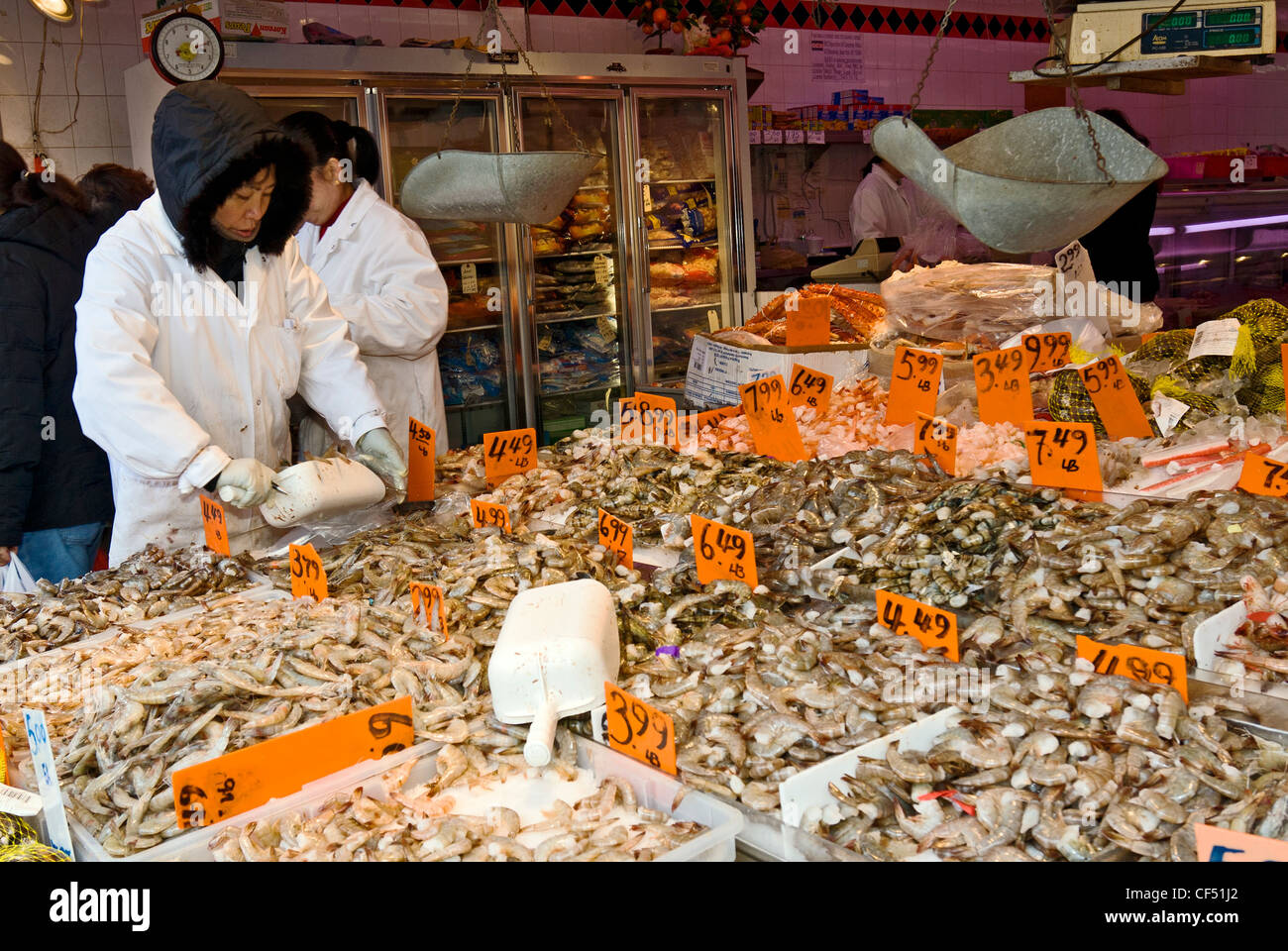 fish market on canal street in chinatown new york city