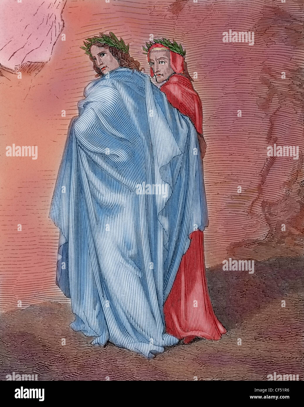 what is the allegorical relationship between dante and virgil