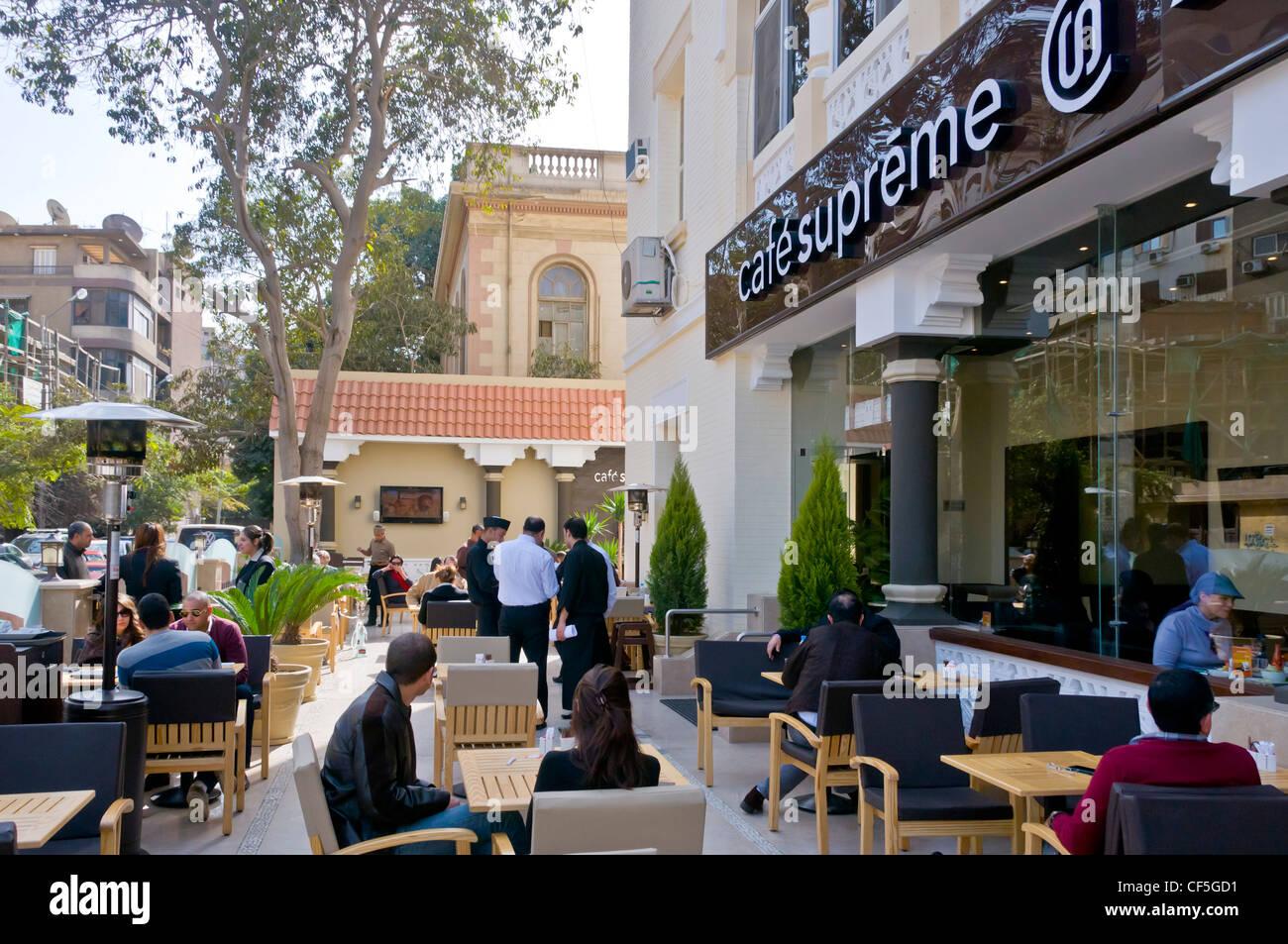 Trendy Coffee Shop In Korba Heliopolis Cairo Egypt Stock