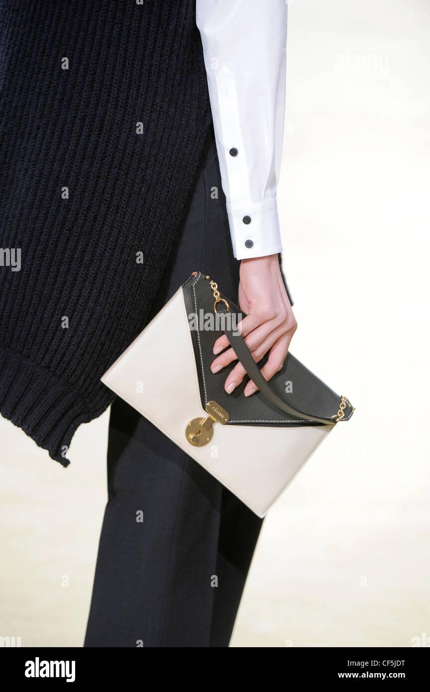 celine grey clutch bag