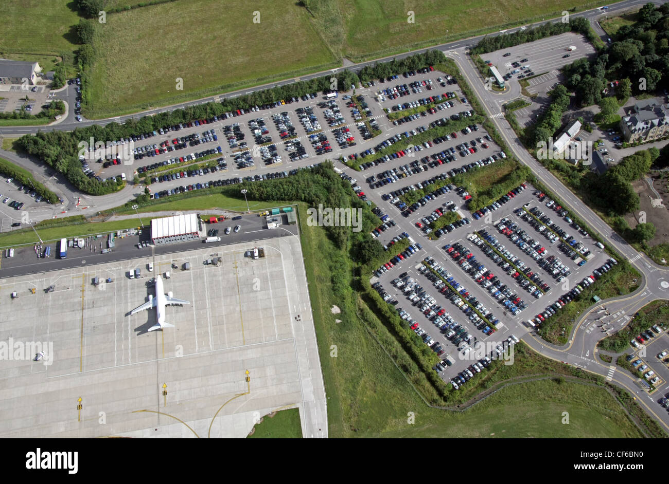 Car parking at an airport stock photos car parking at an airport aerial view of airport car parking stock image kristyandbryce Image collections